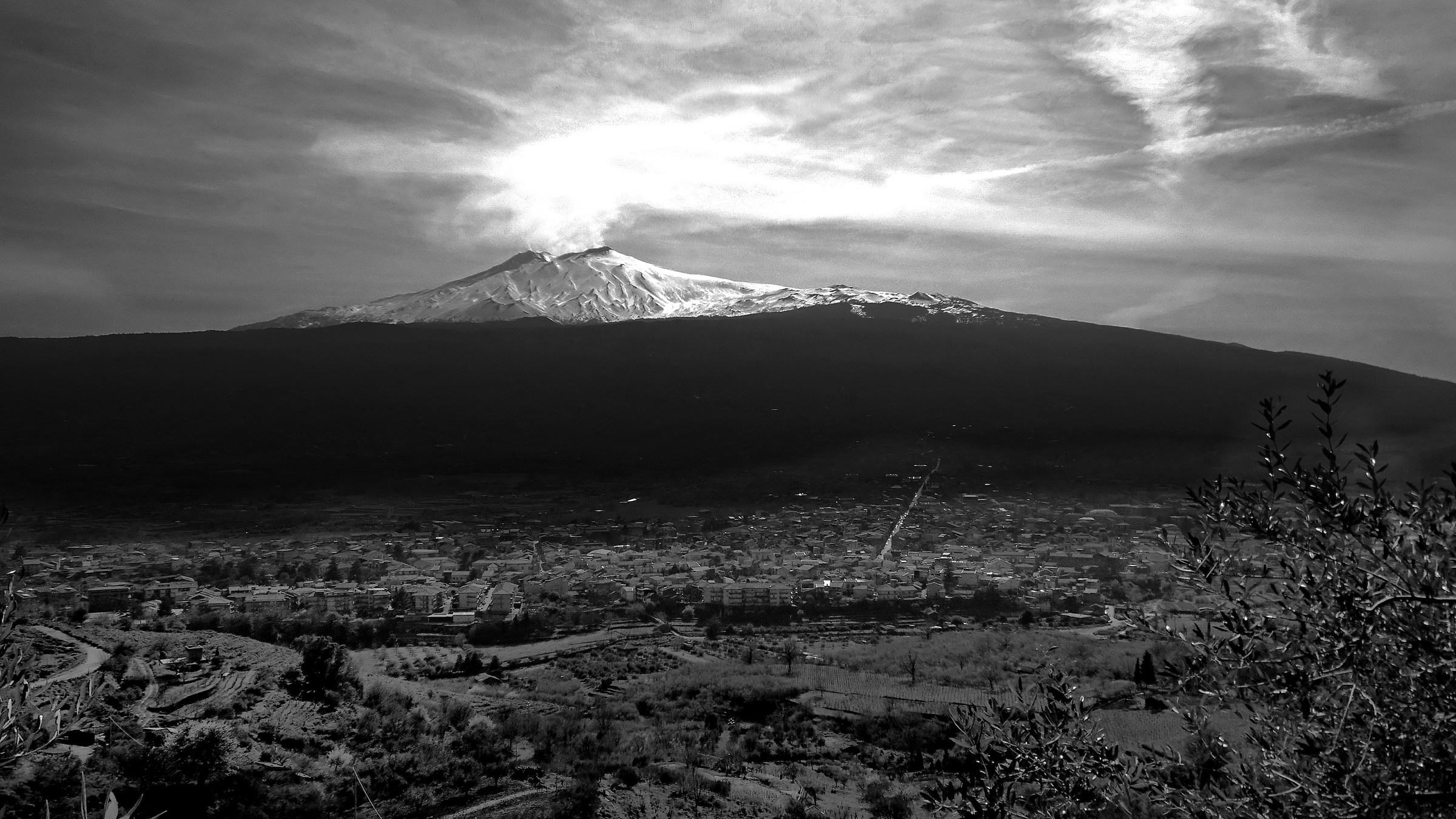 sunset on Etna...