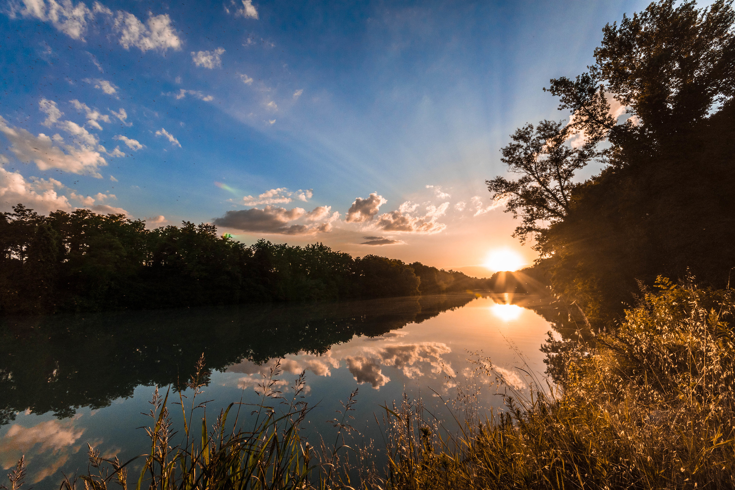 Sunset on the Piave...