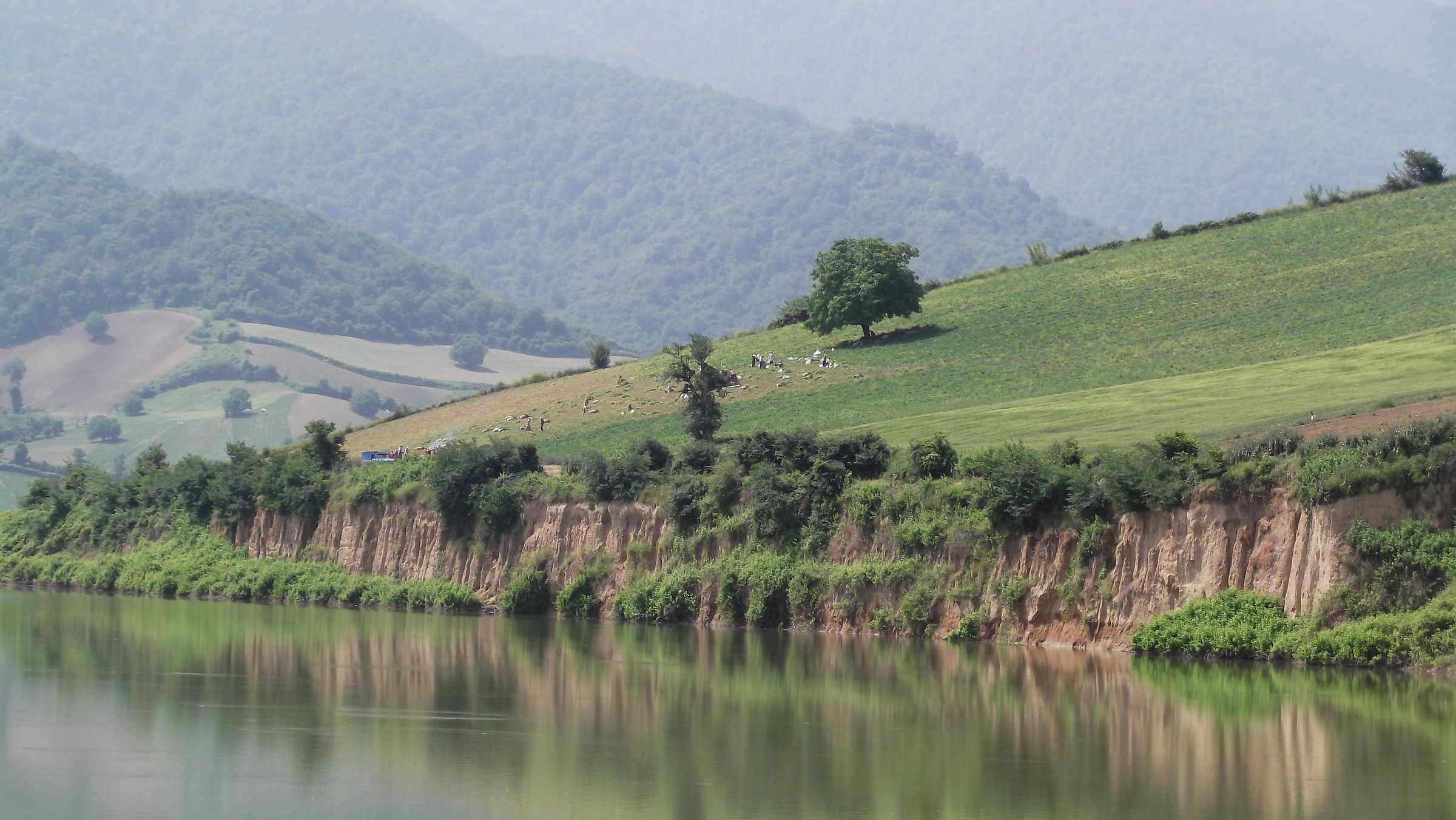 reflection at dam...