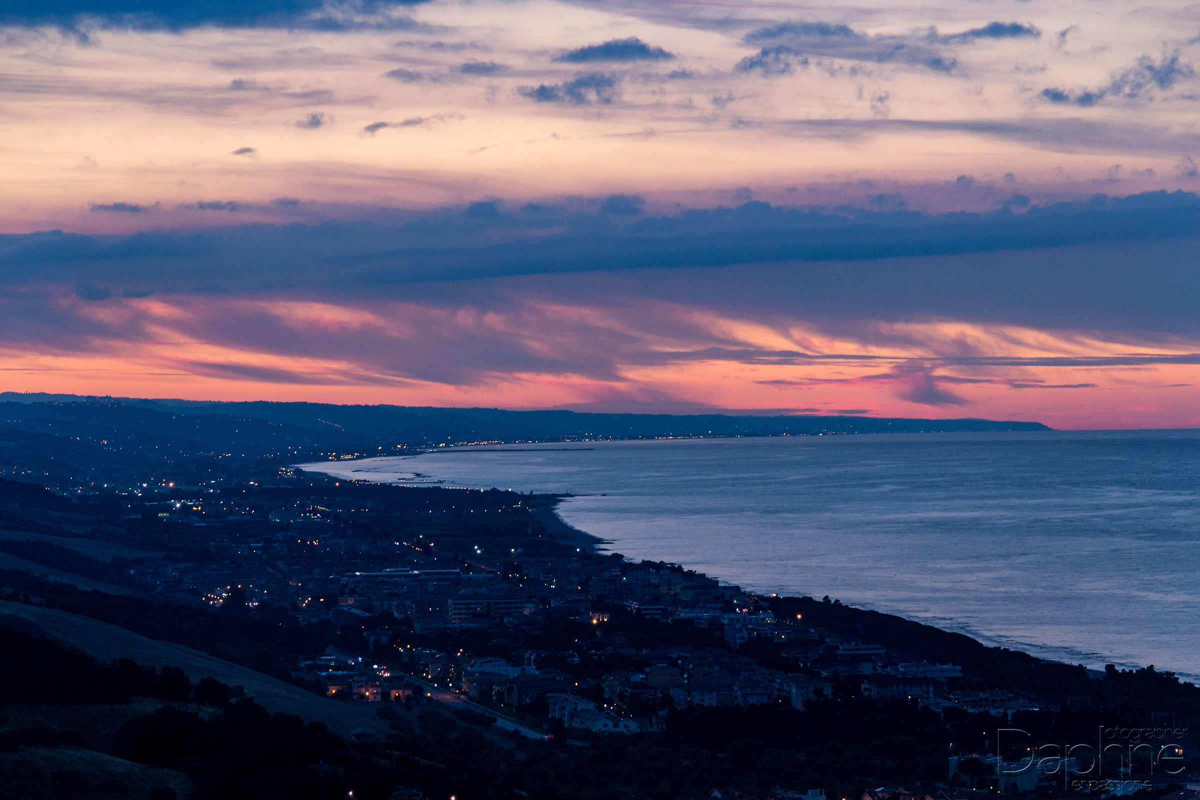 Sunset on the Adriatic coast of Abruzzo...