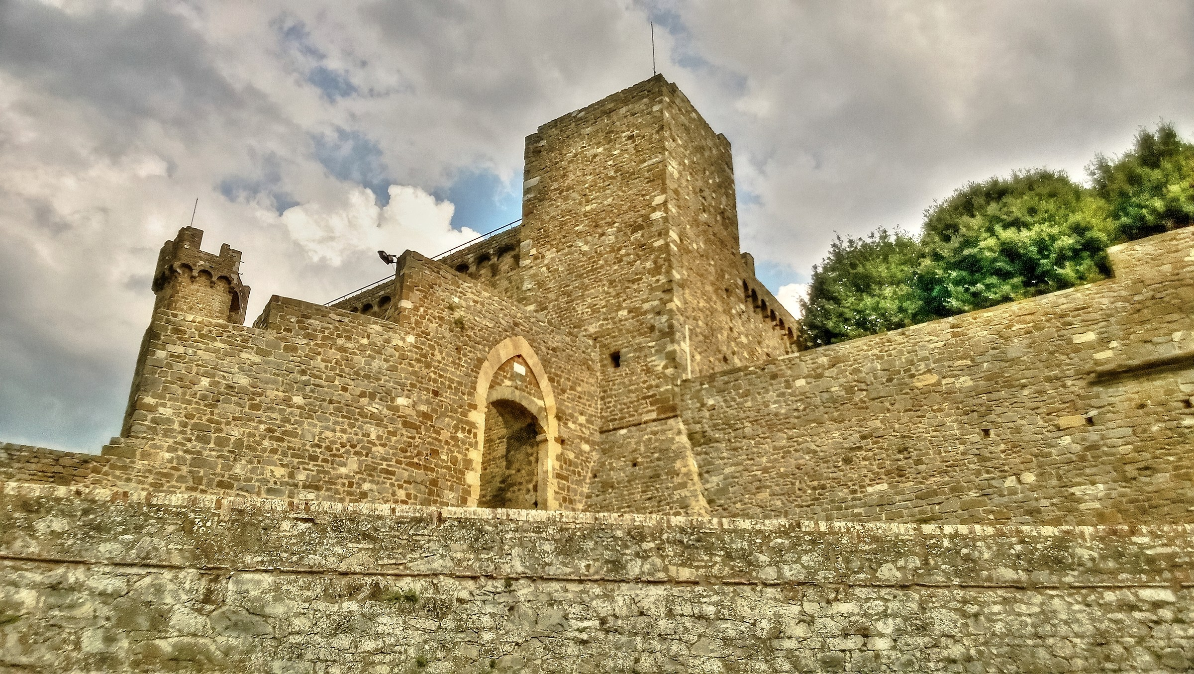 The Fortress of Montalcino...