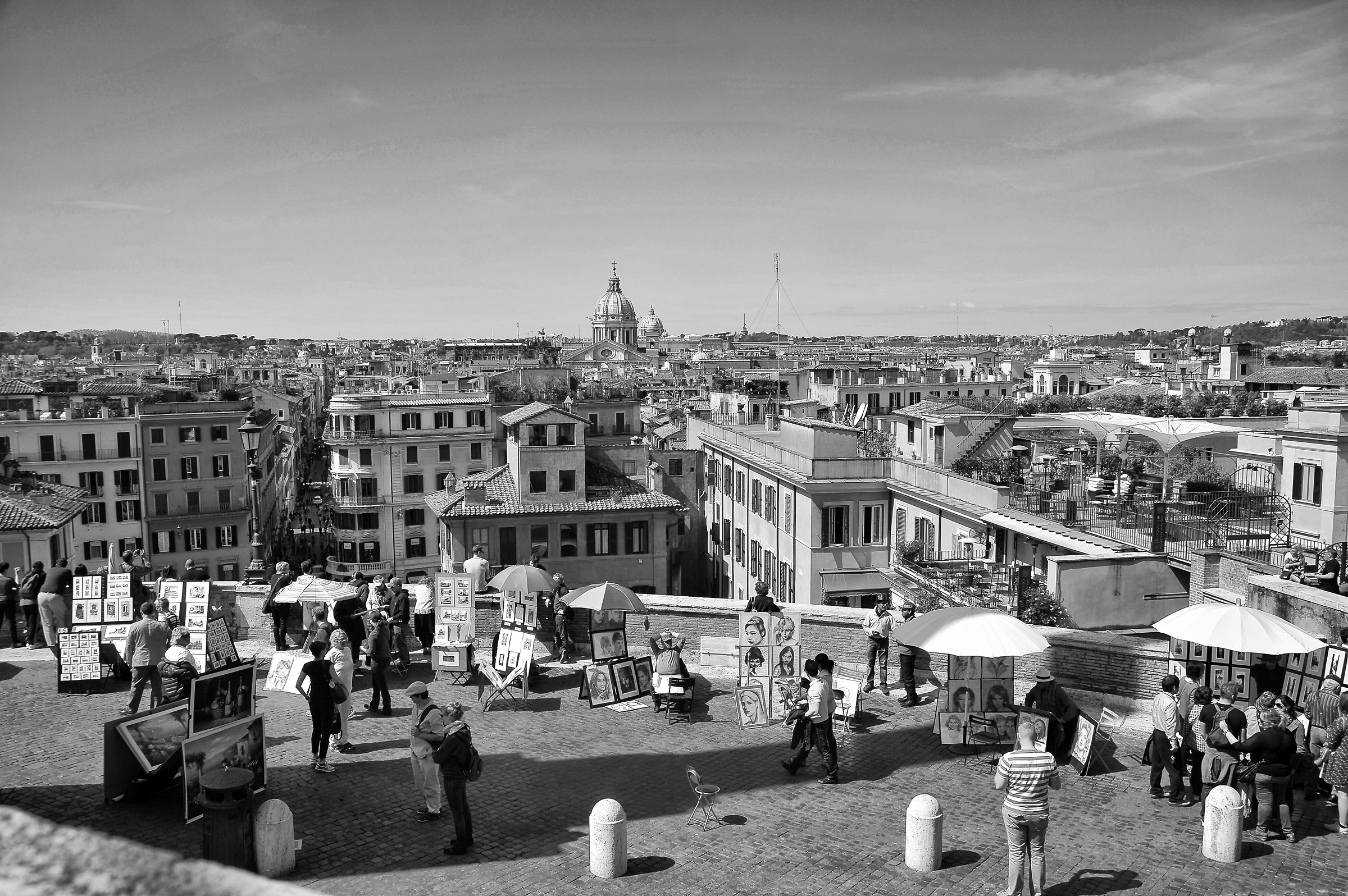 View from the Spanish Steps...