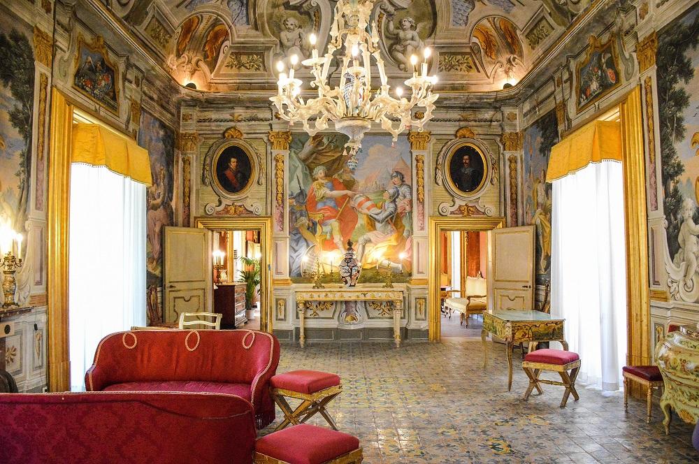 Interno Villa Niscemi, Stanza delle stagioni...