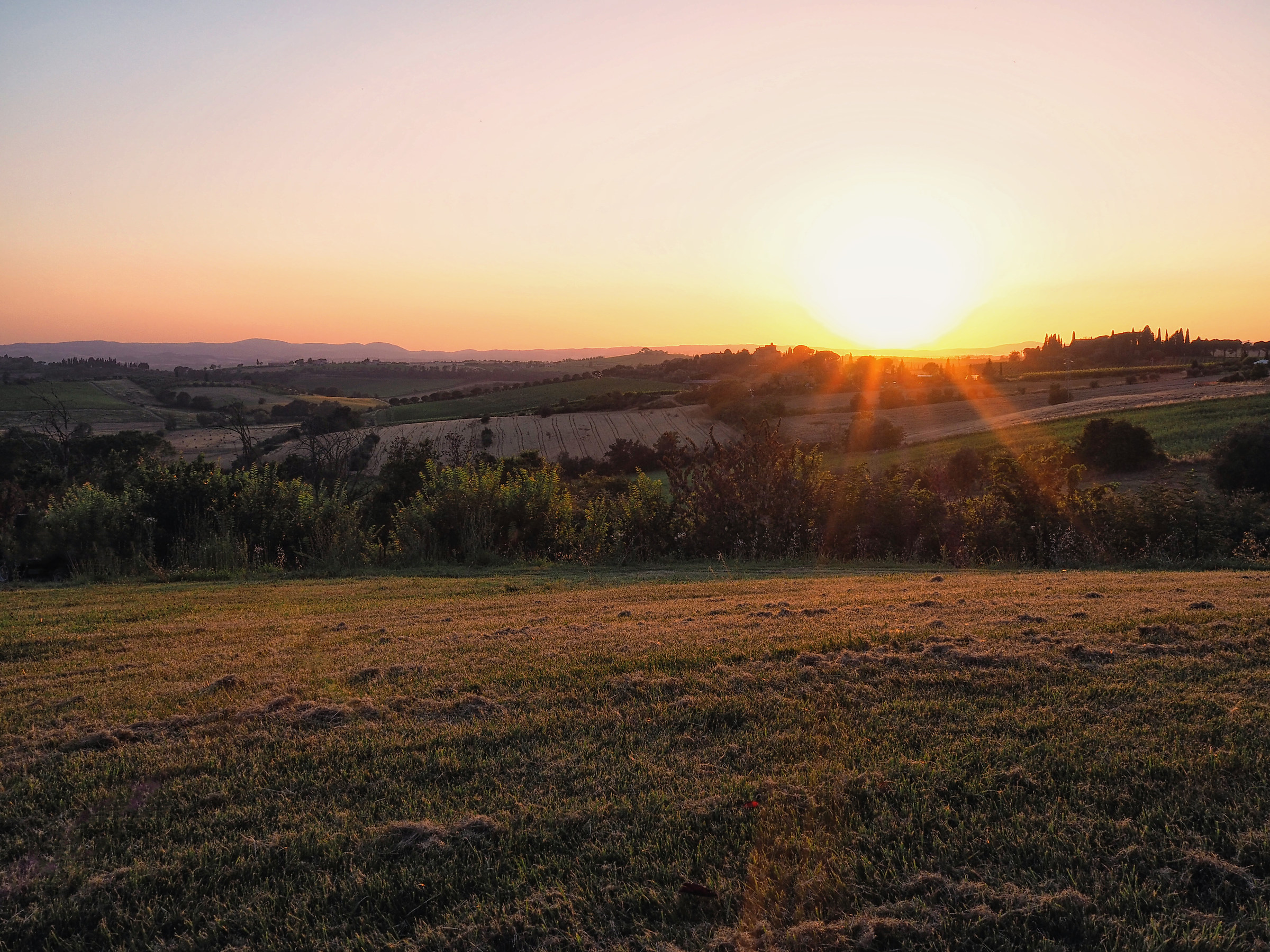 Umbrian countryside at sunset...