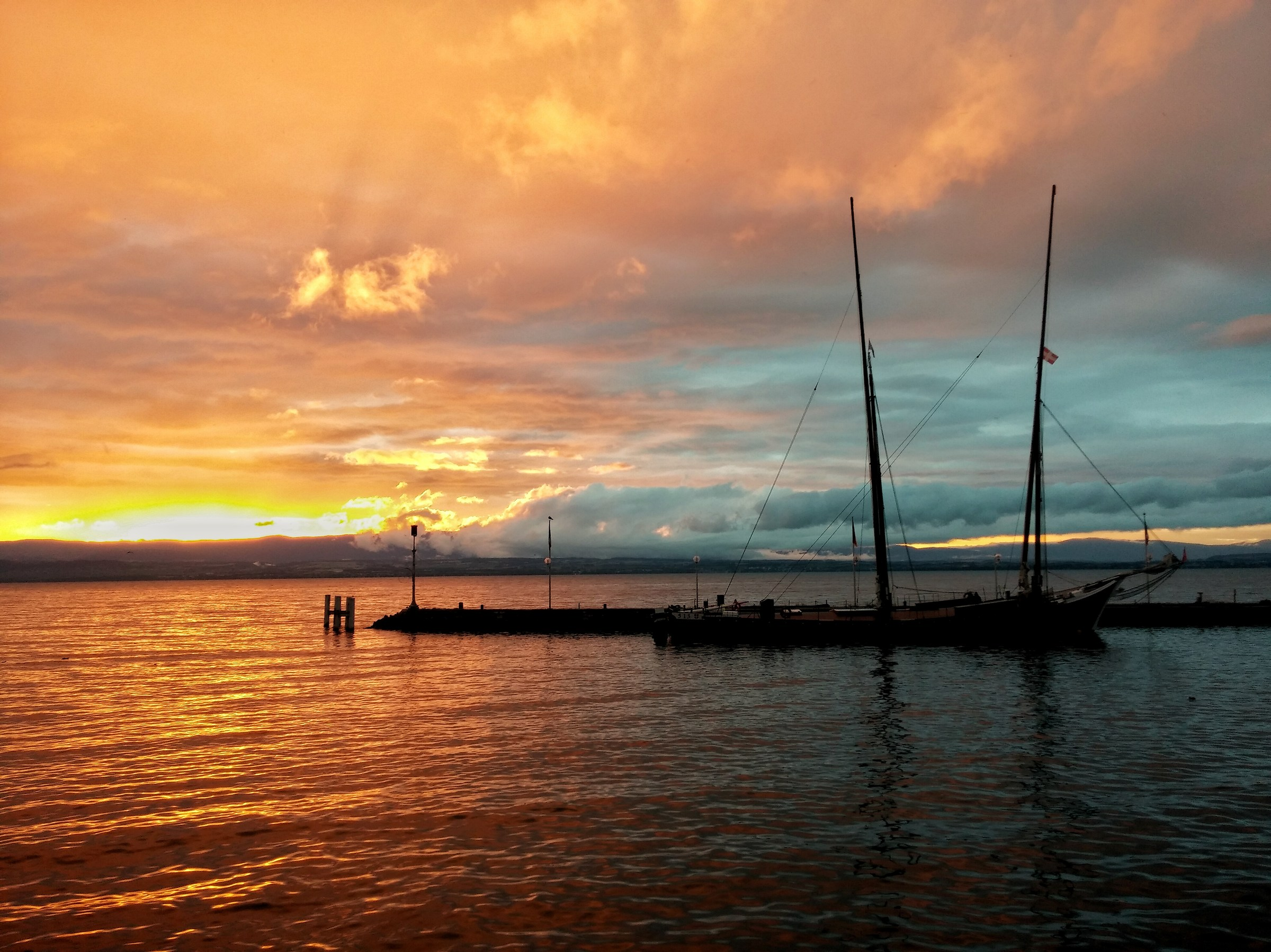 Sunset in Evian les Bains...