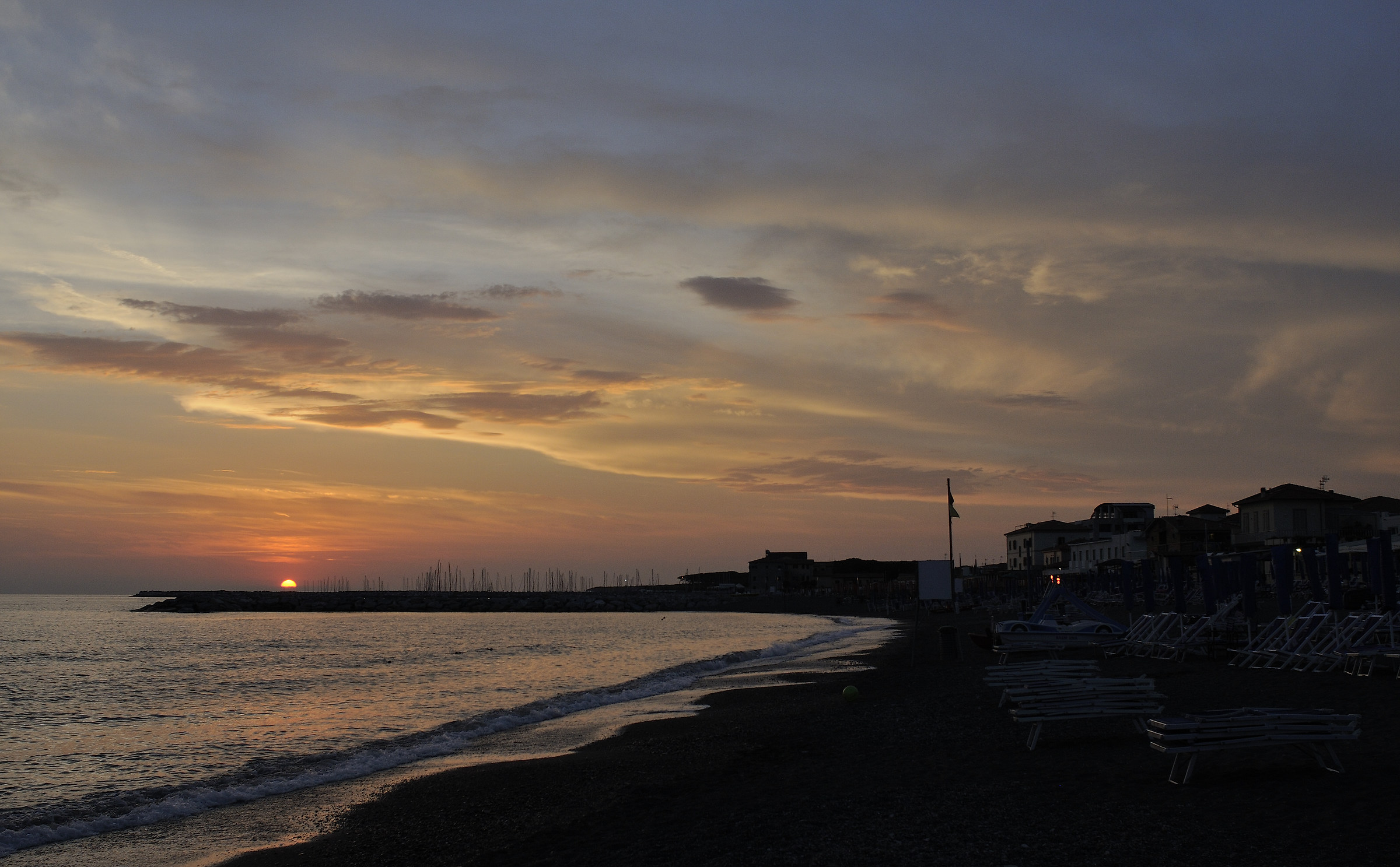 Sunset in Cecina...