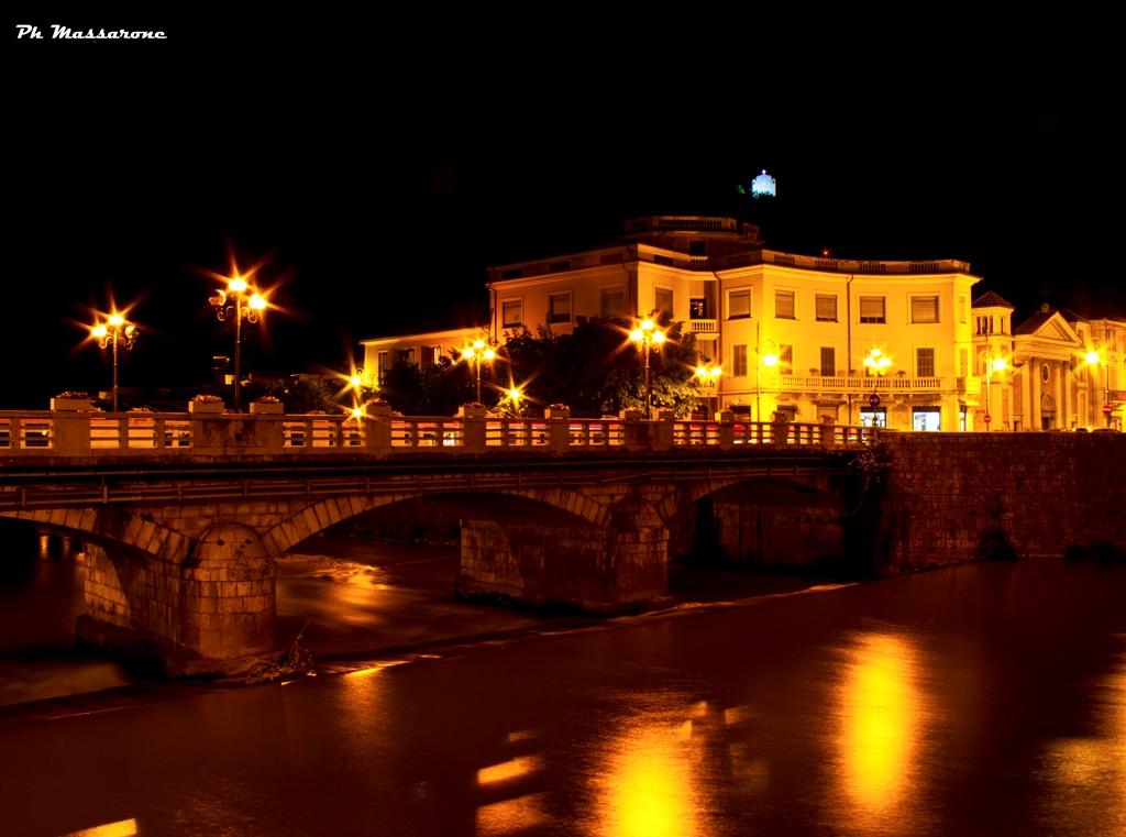 The Liri river in the center of Sora...