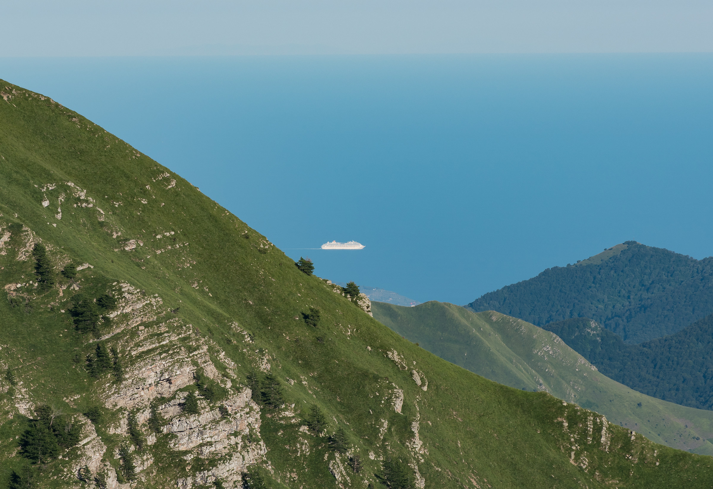 A ship in the mountains...