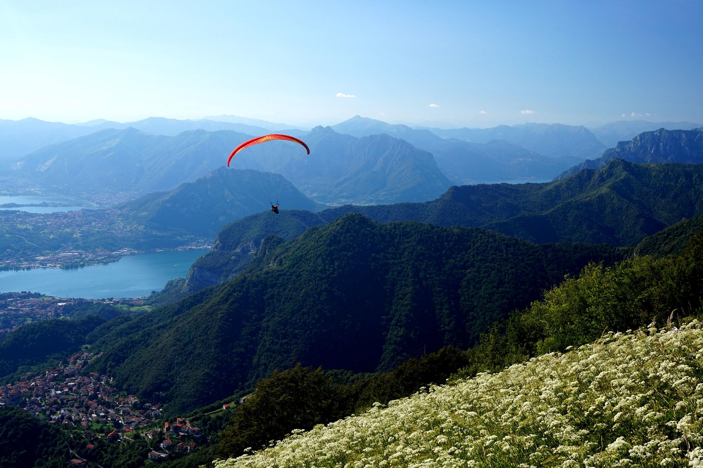 Il volo - Monte Tesoro 1.432 mt....