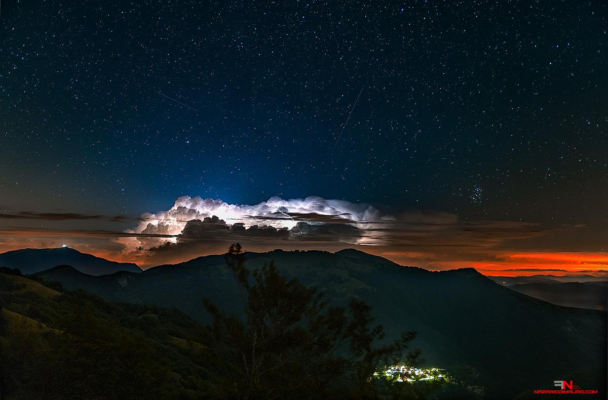 Lightning and shooting stars ......