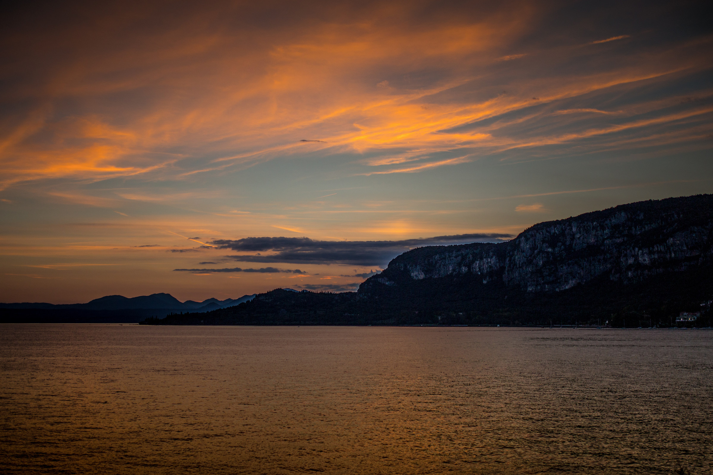 sunset on Lake Garda...