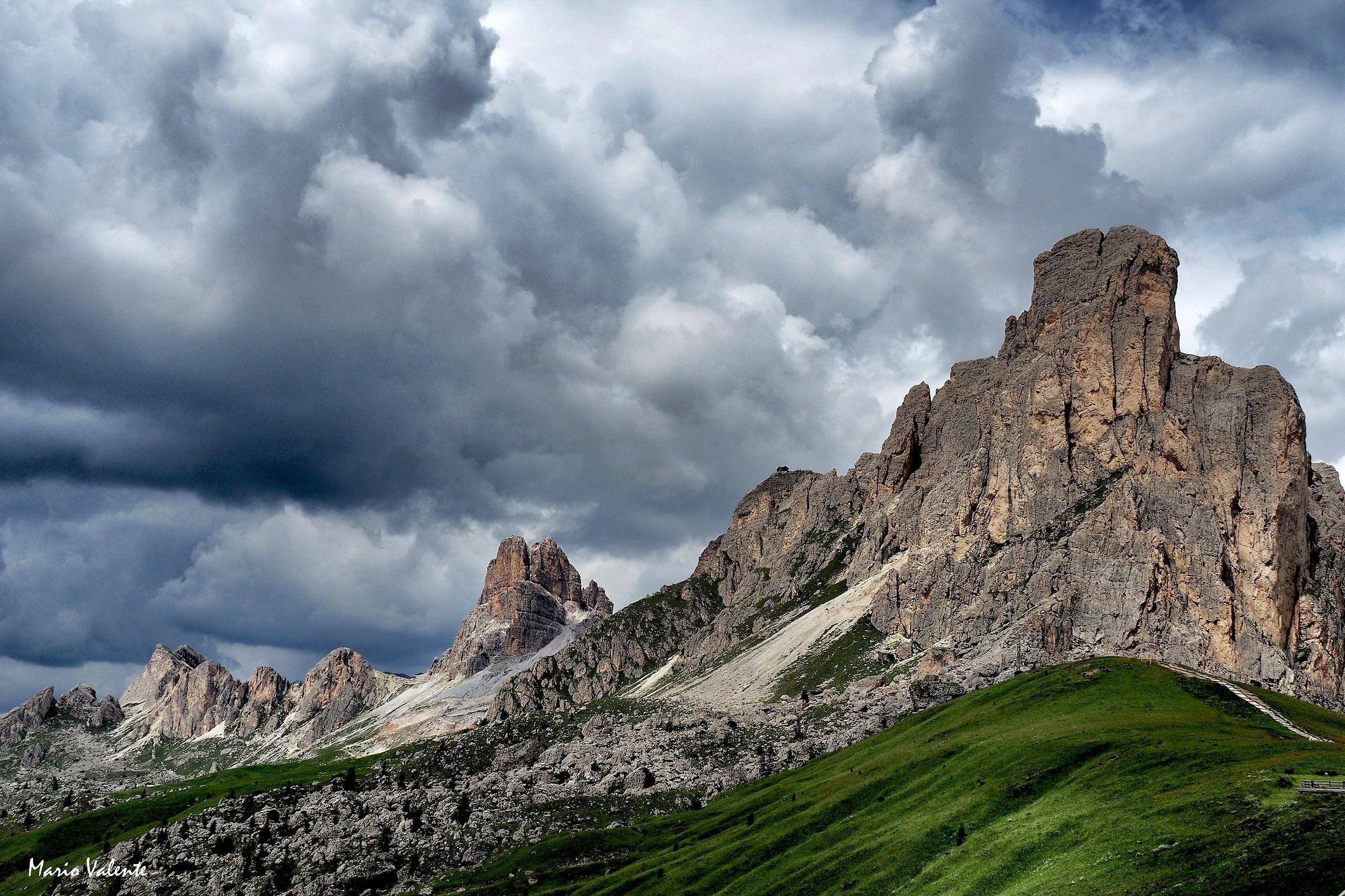 Averau e Nuvolao, il tempo si fa minaccioso...