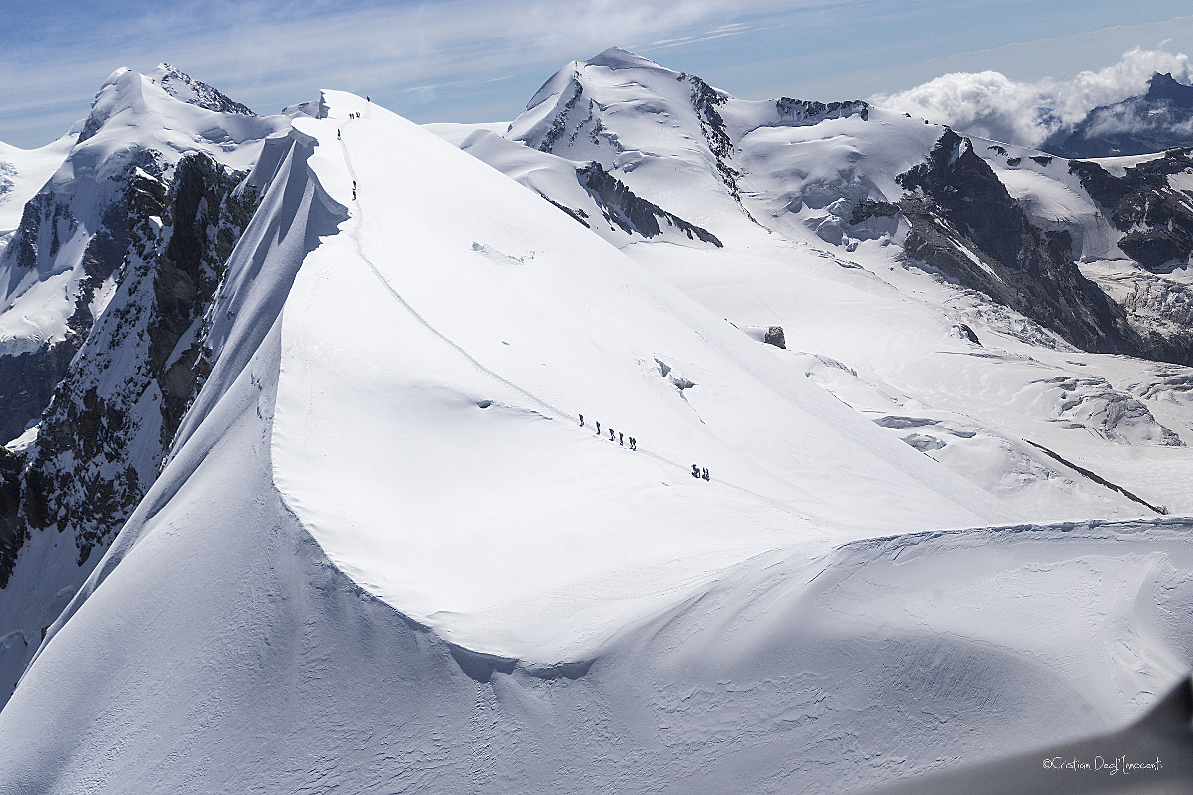 Over Monte Rosa (4637 m) in Helicopter...