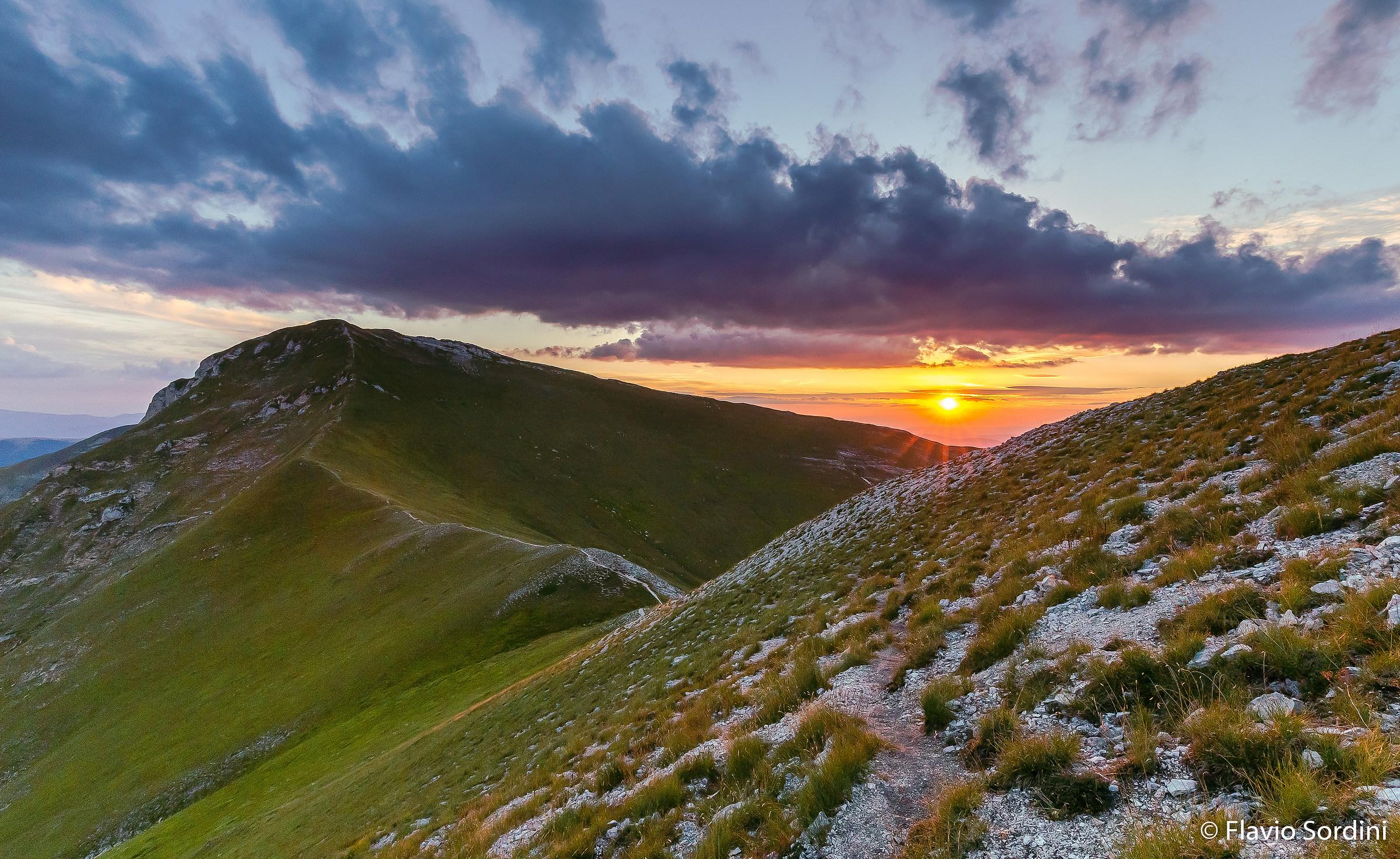 Sunset on Priora (2,332 m sl) to Pizzo Berro...