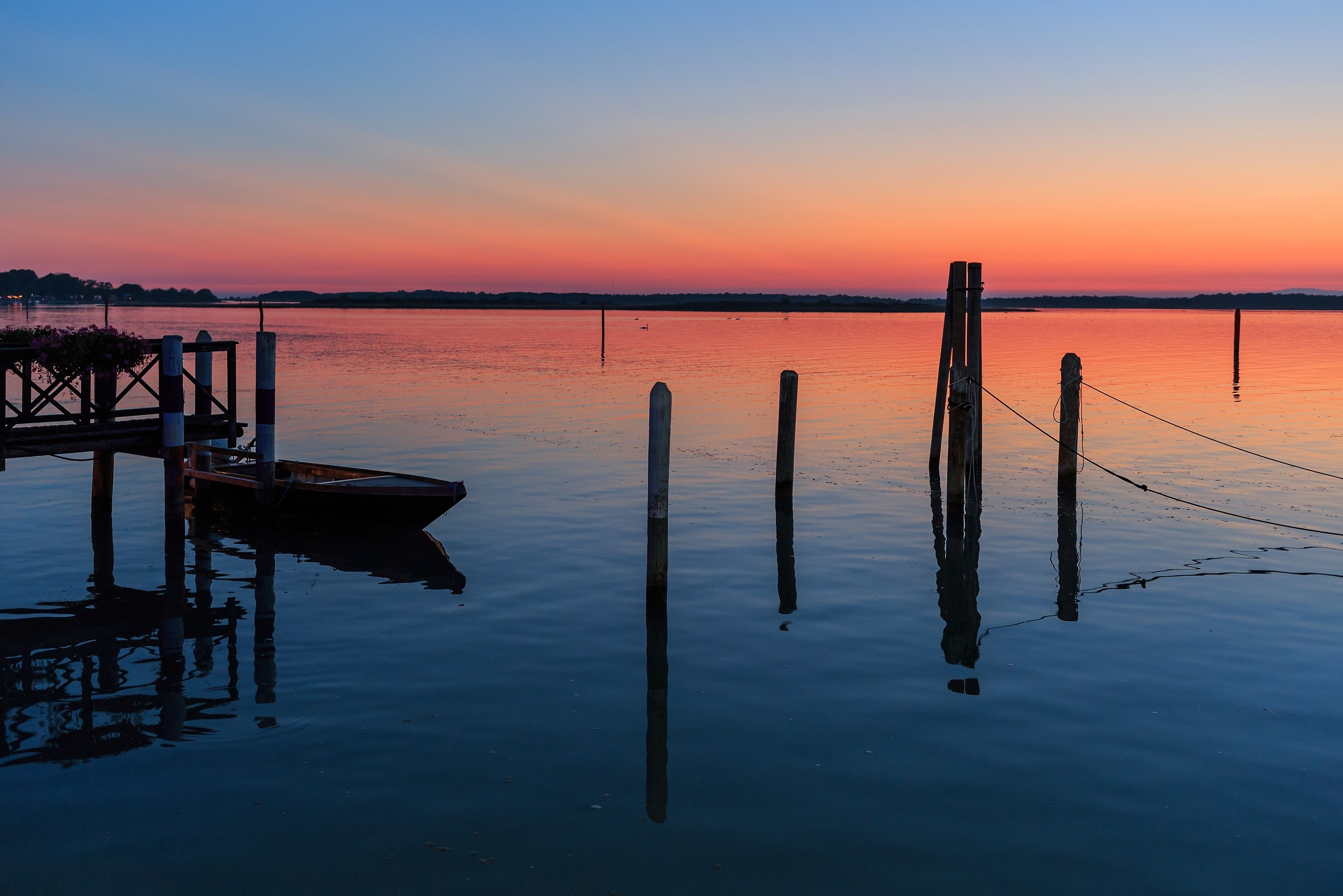 Bibione lagoon at sunset...