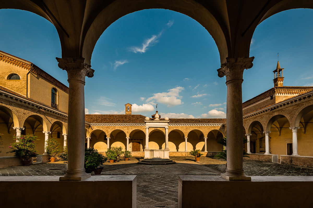 The cloister roof...