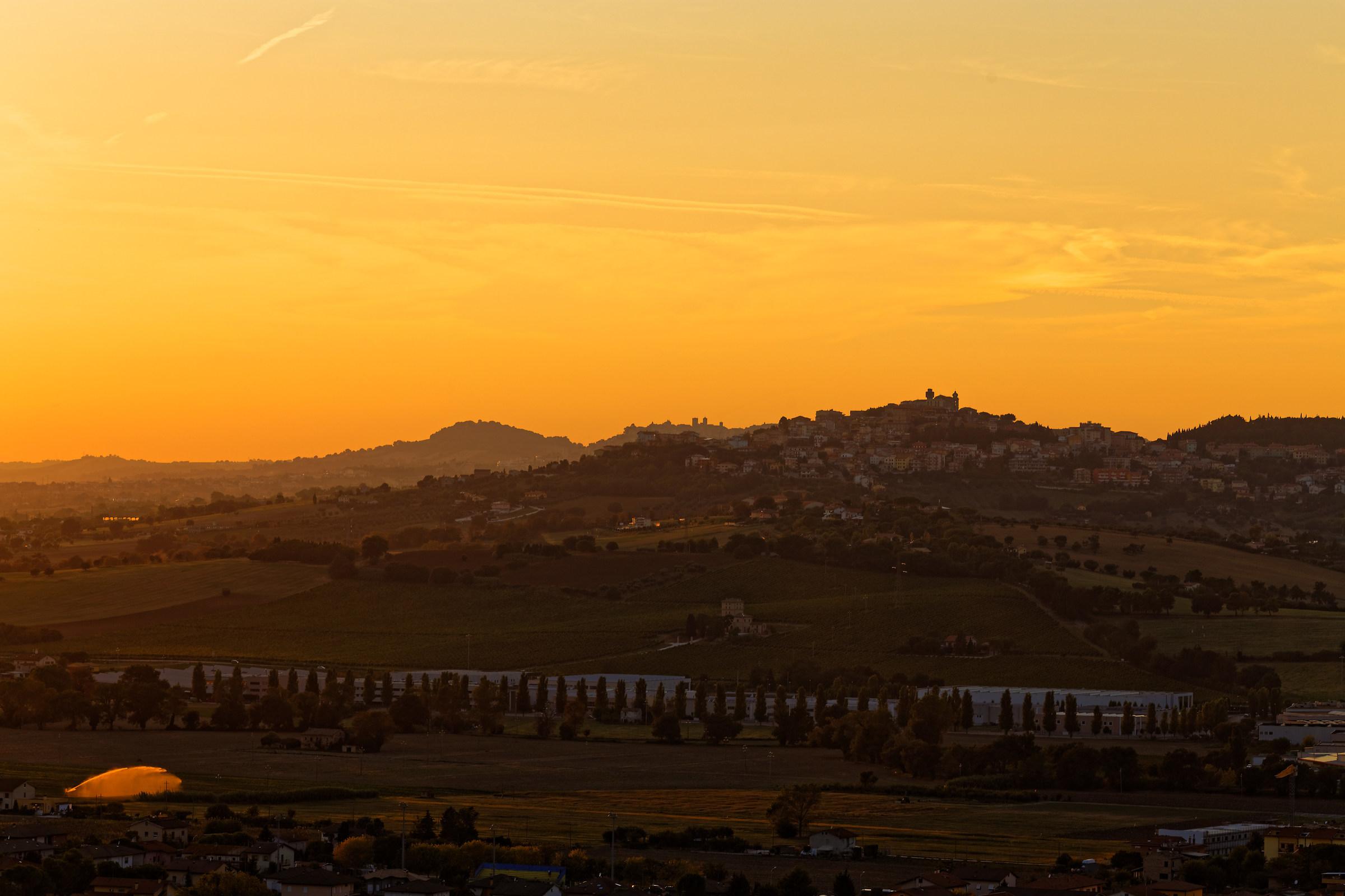 tramonto da Loreto...