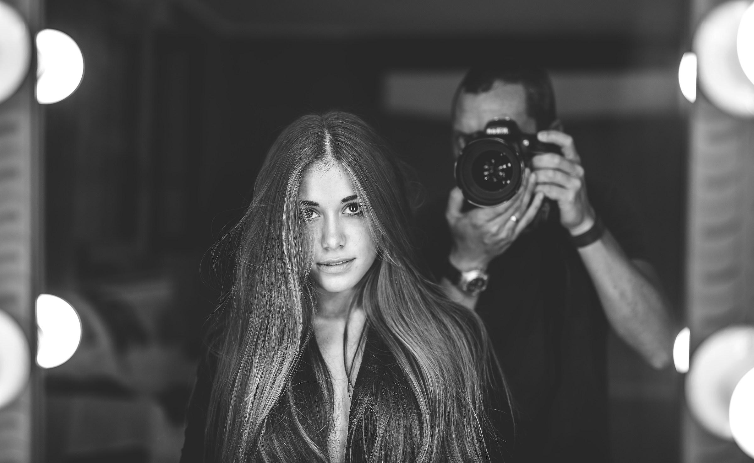 Selfie con modella...