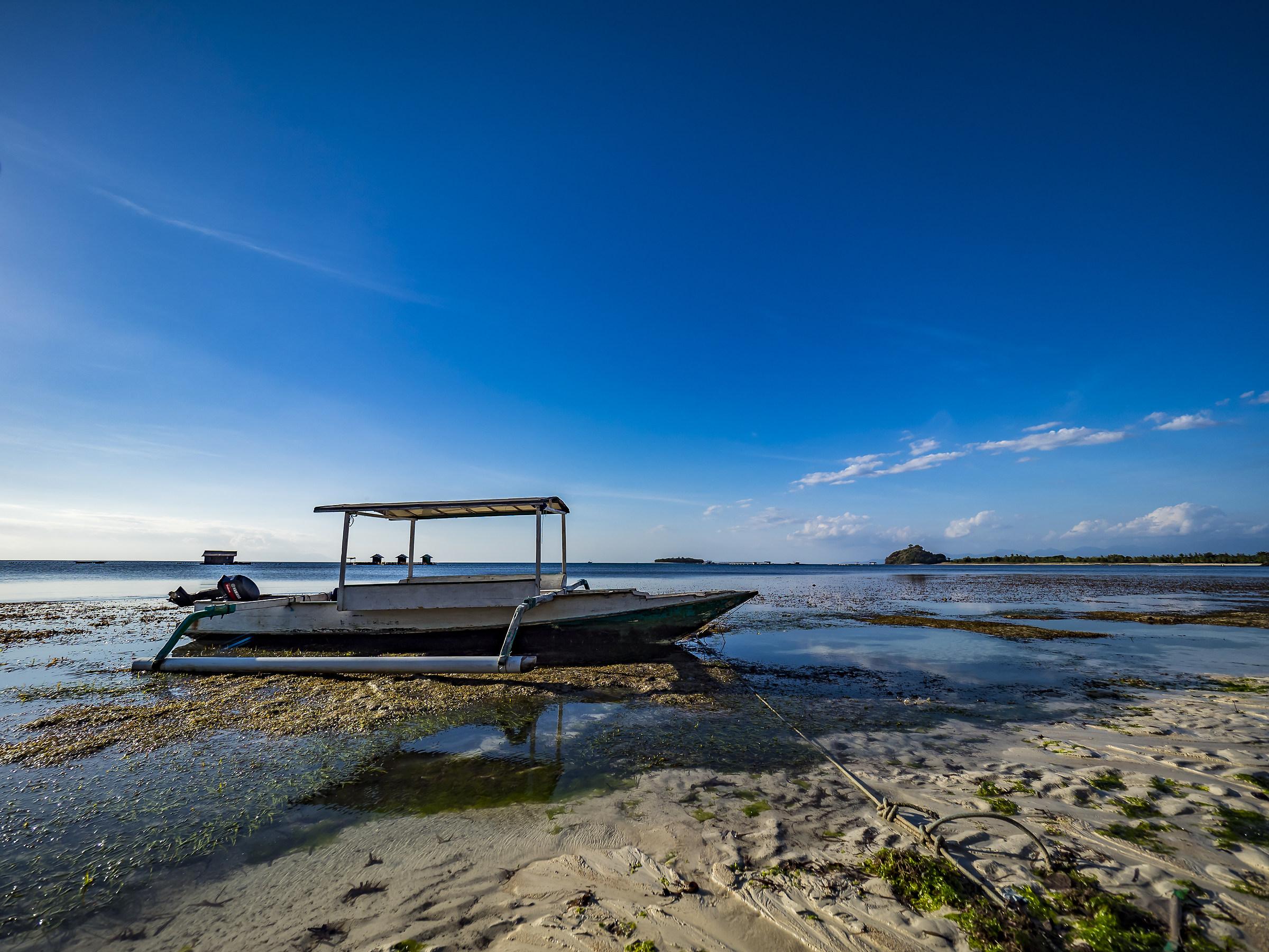 Imbarcazione tradizionale indonesiana, Lombok...