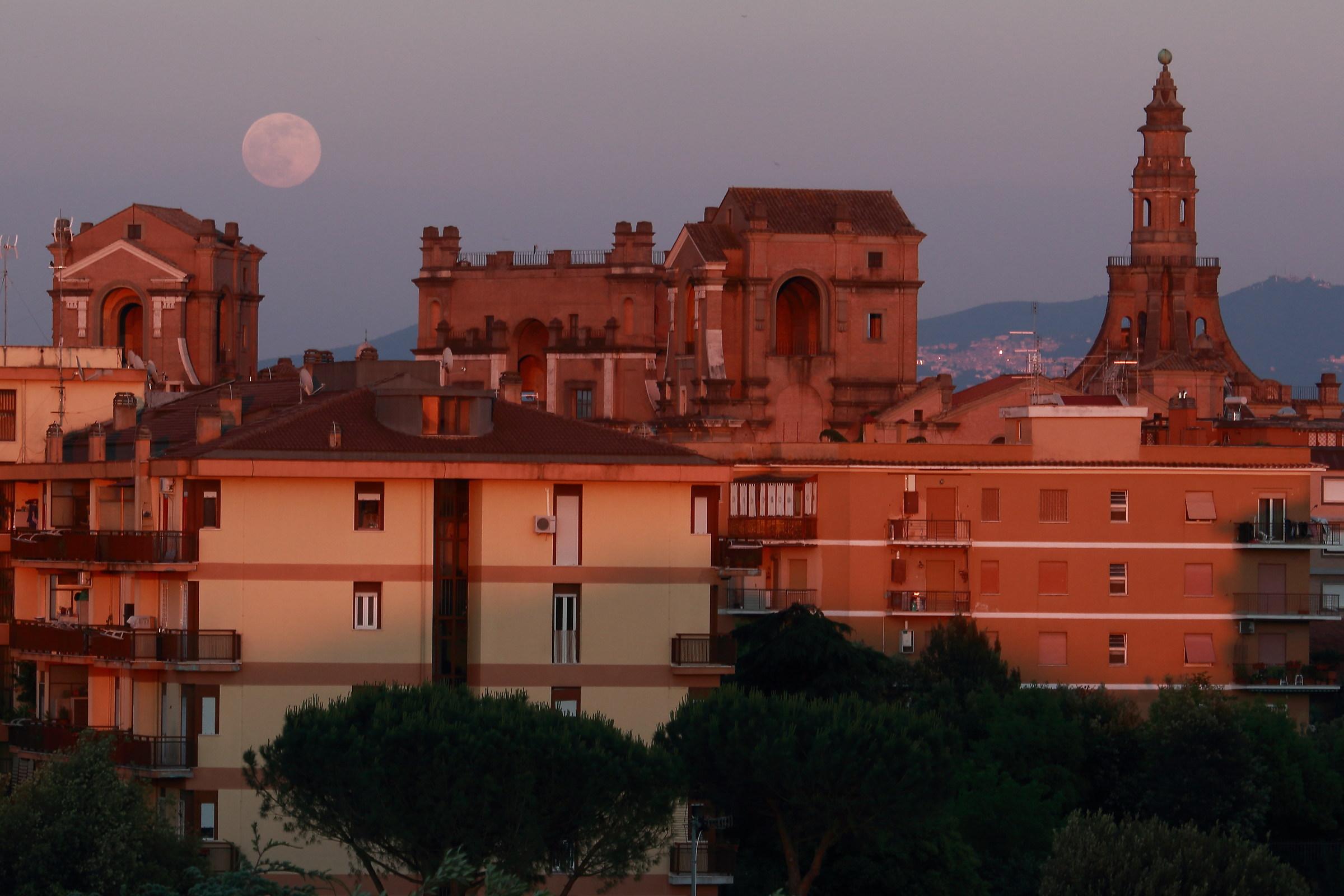 The moon rises on high school...