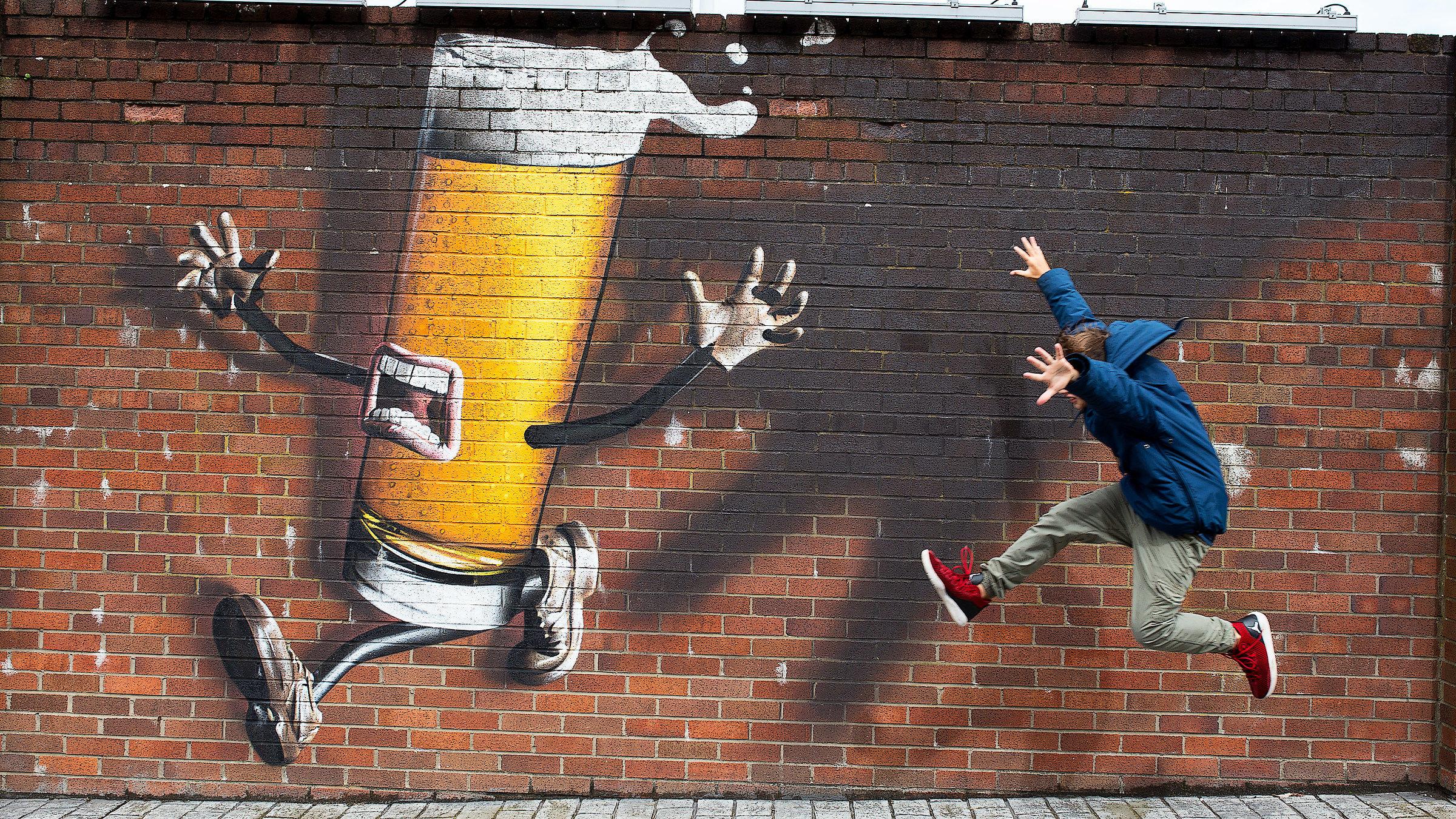 Graffto of Tennent's in Glasgow...