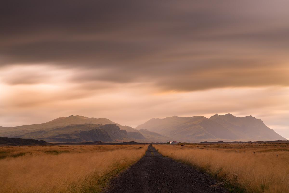 Sunset in Boer, Iceland...