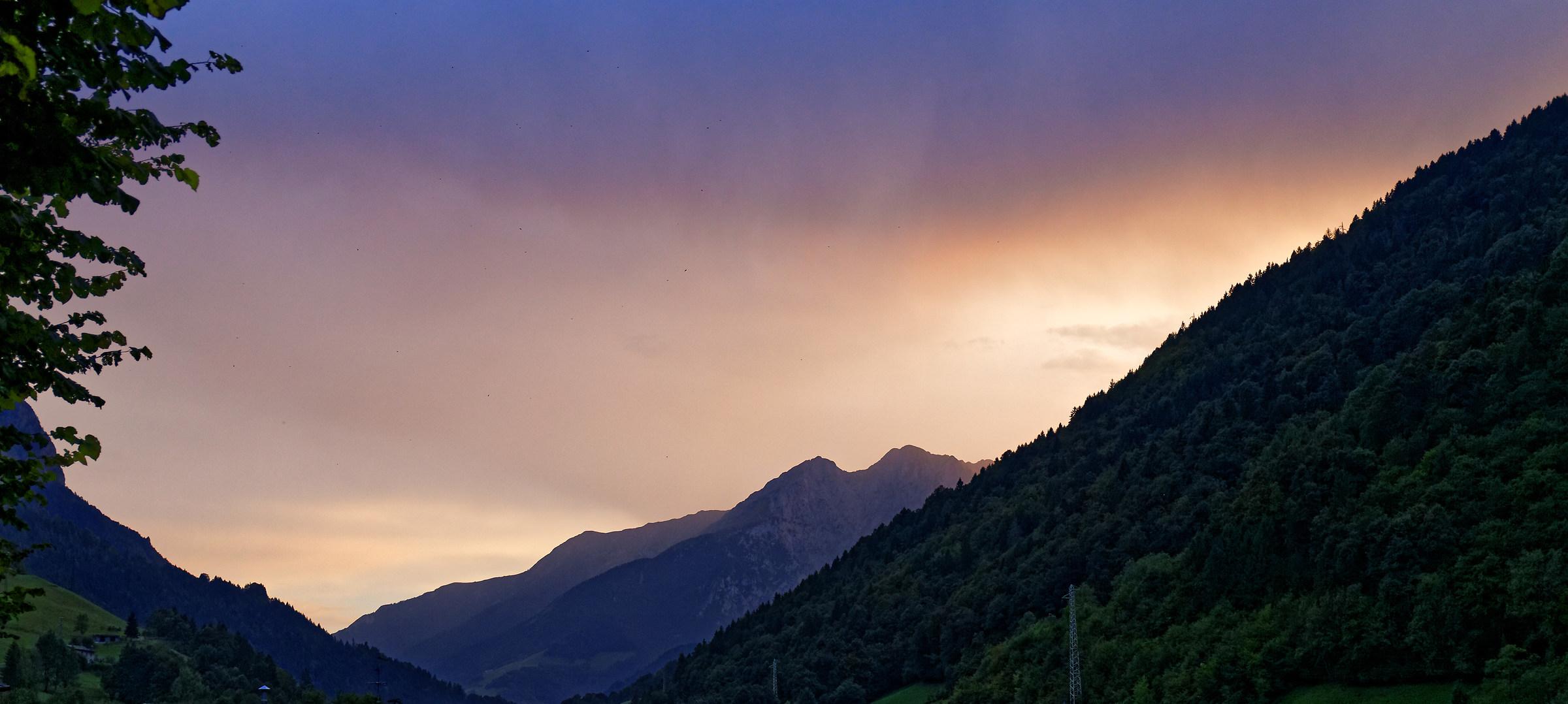 Tramonto in Val Seriana...