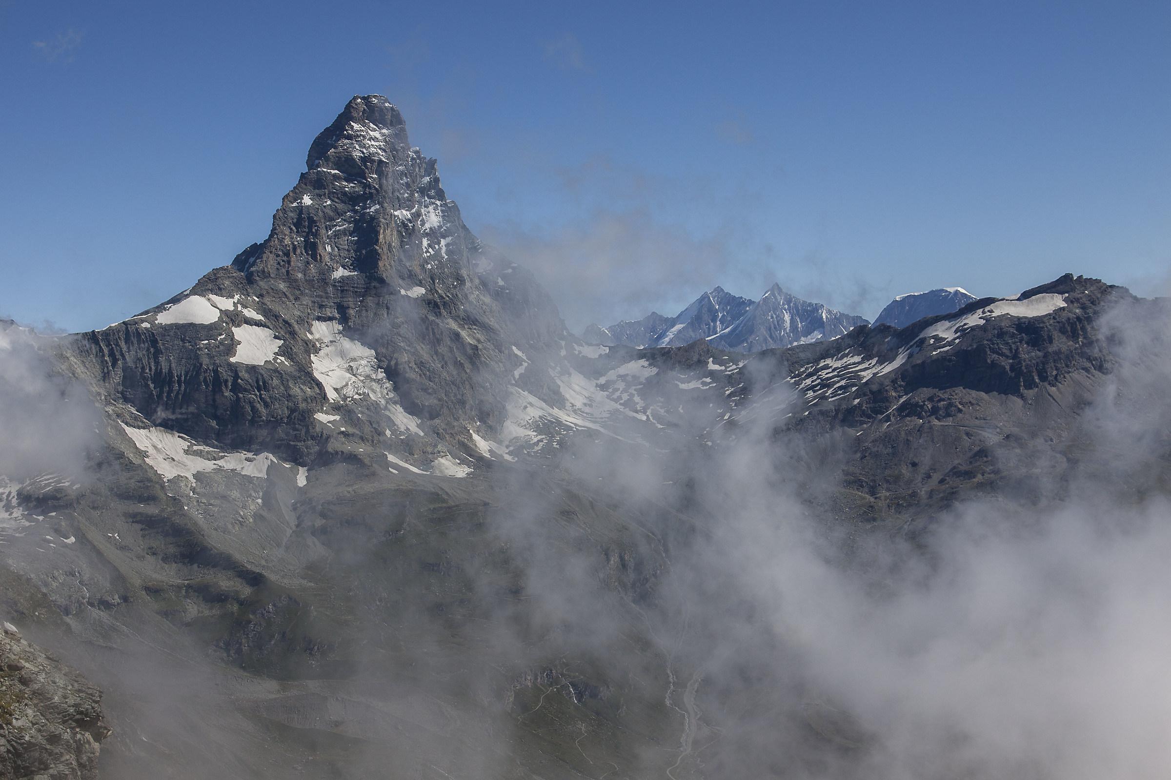 The Matterhorn viewed from Vofrède hill....