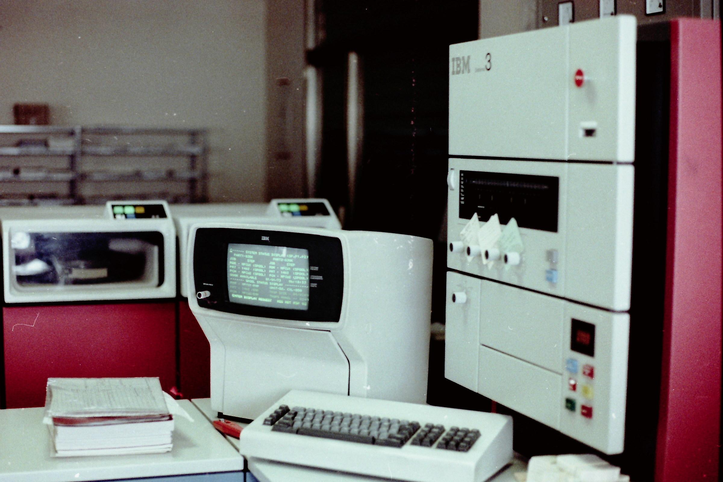 Year 1979. Console computer S / 3 Mod.15 IBM...