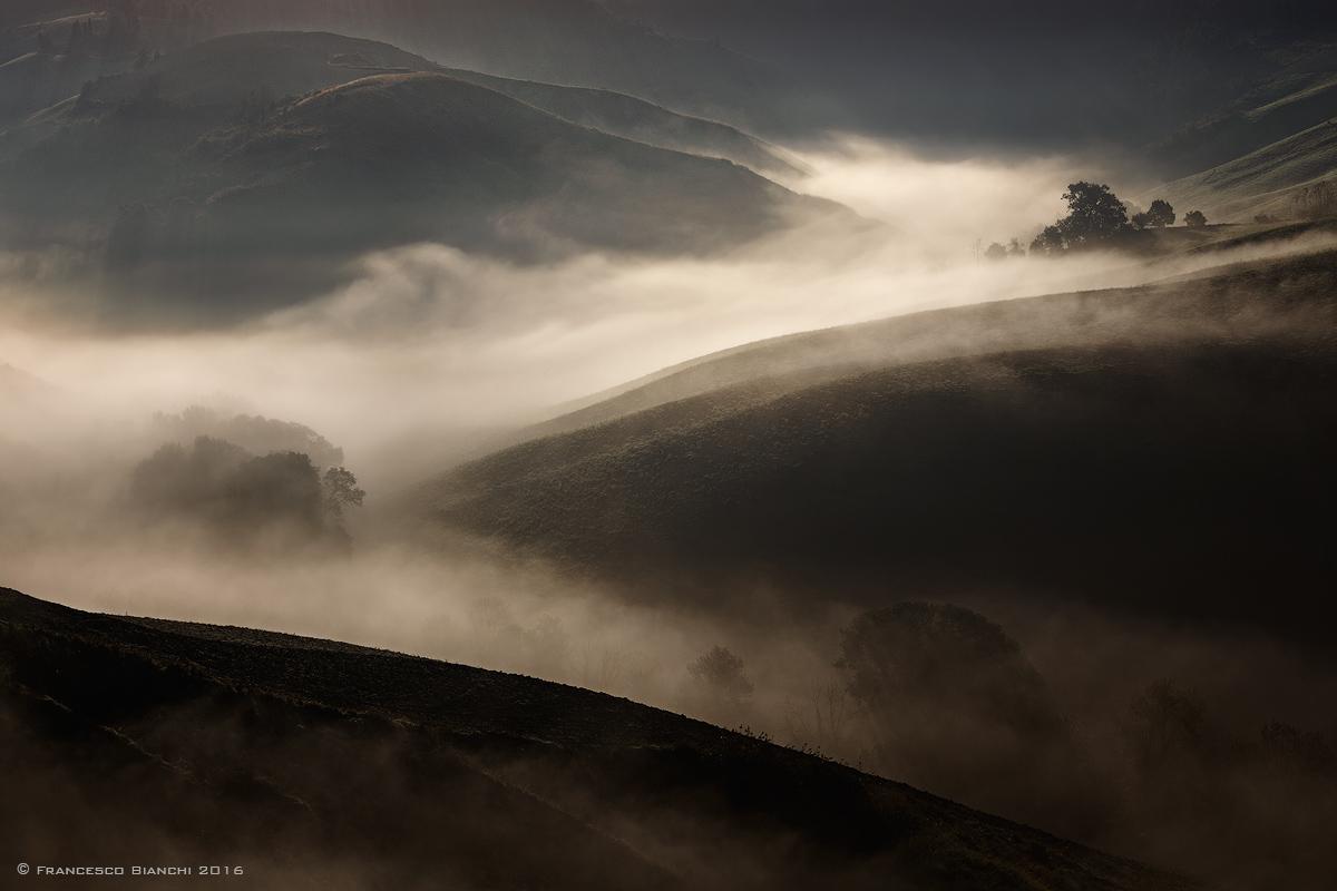 Morning mist on the hills of Volterra...