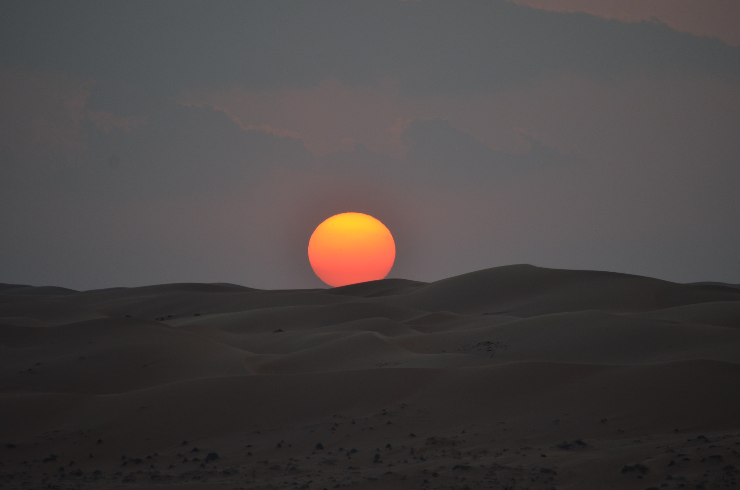 Sunset in Wahiba Sands...