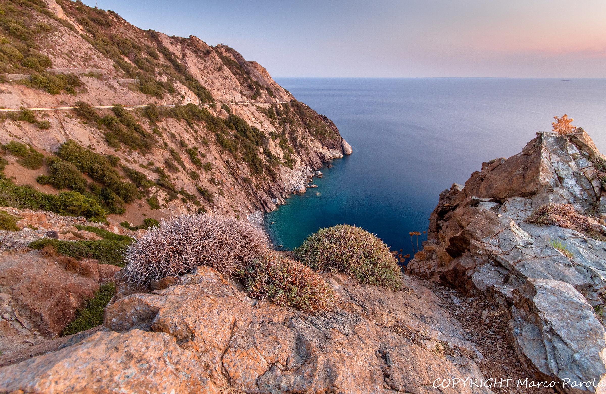 Sunset on the island of Elba...