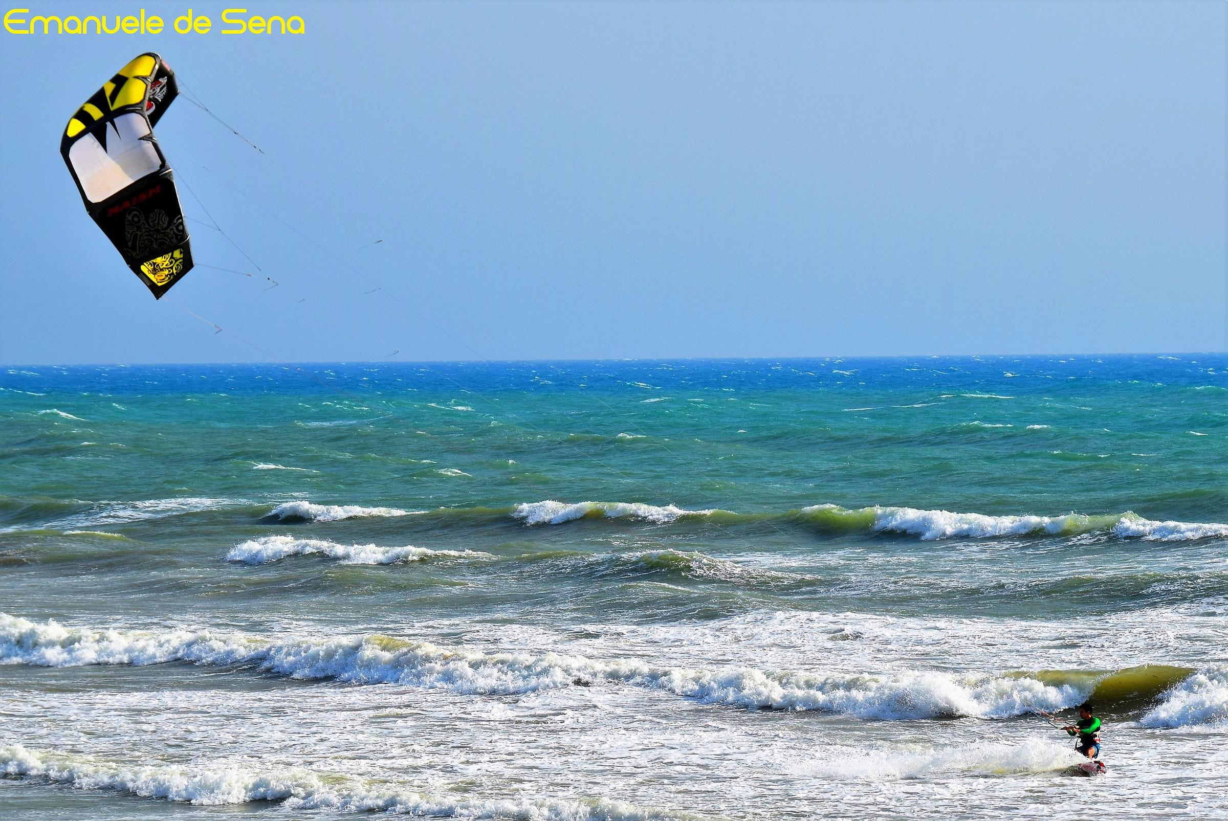 kitesurfing in the Mediterranean...