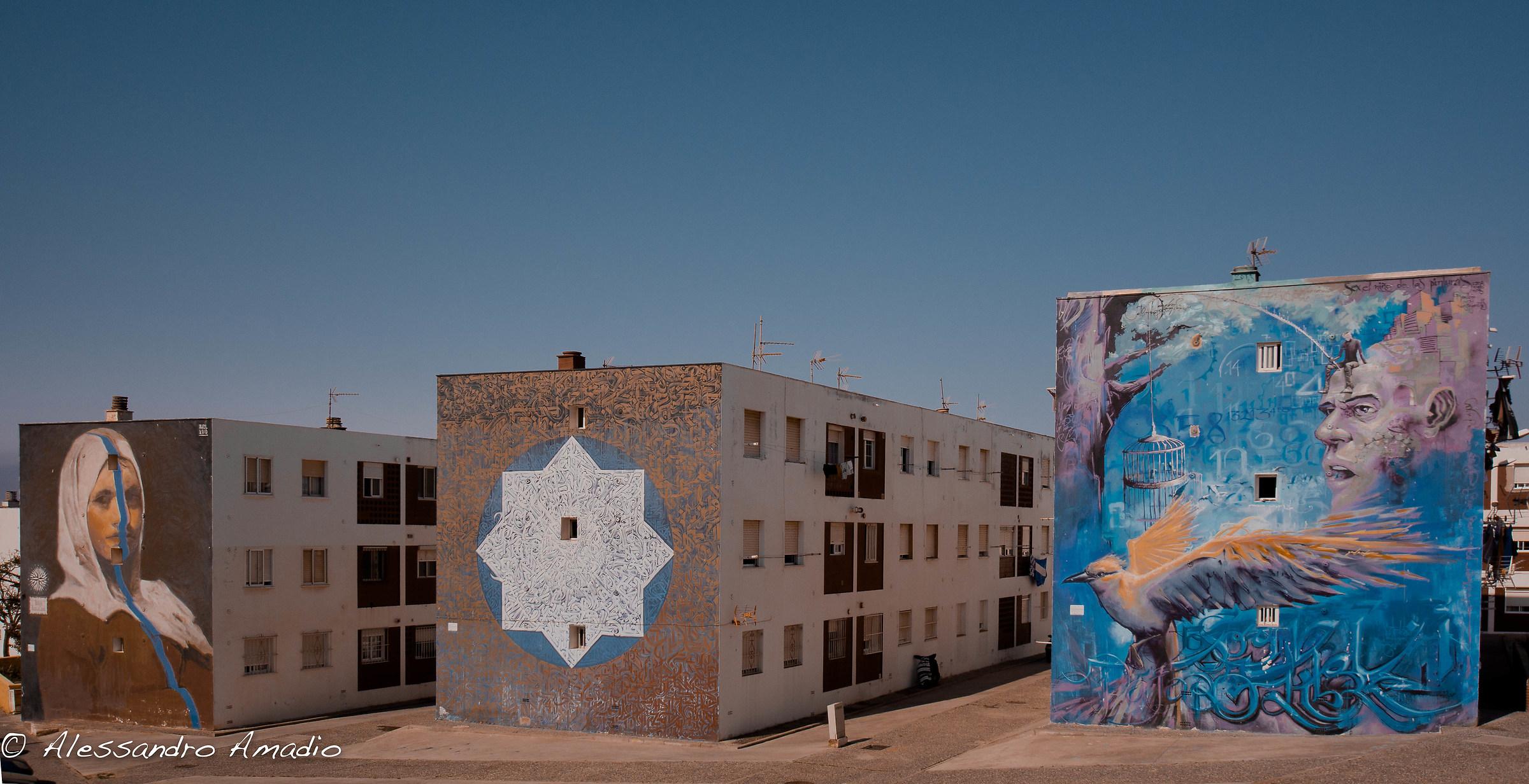 Murales Tarifa, Andalusia, Spagna...