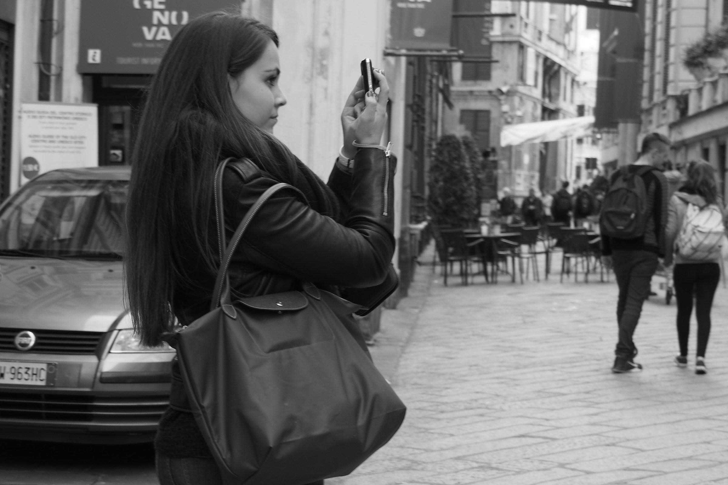 La turista francese...