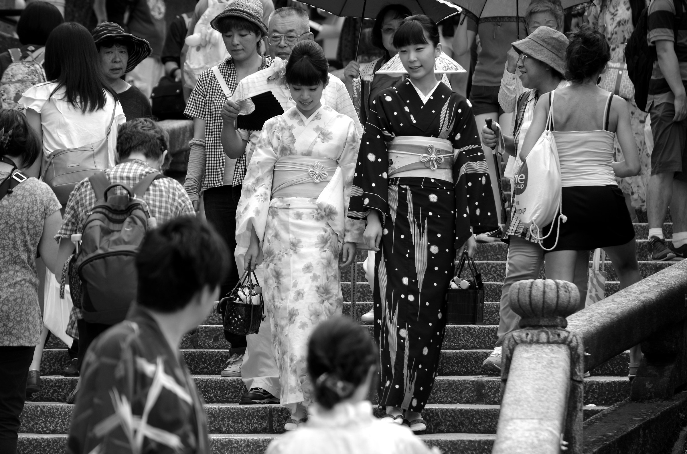 traditional costumes B & W...