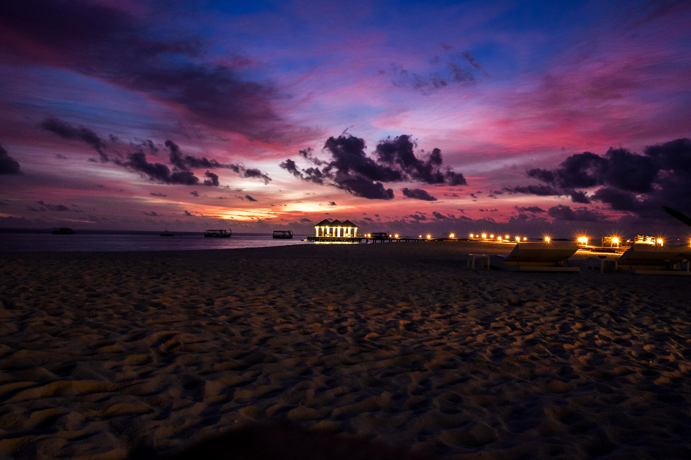 Maldivian sunset...