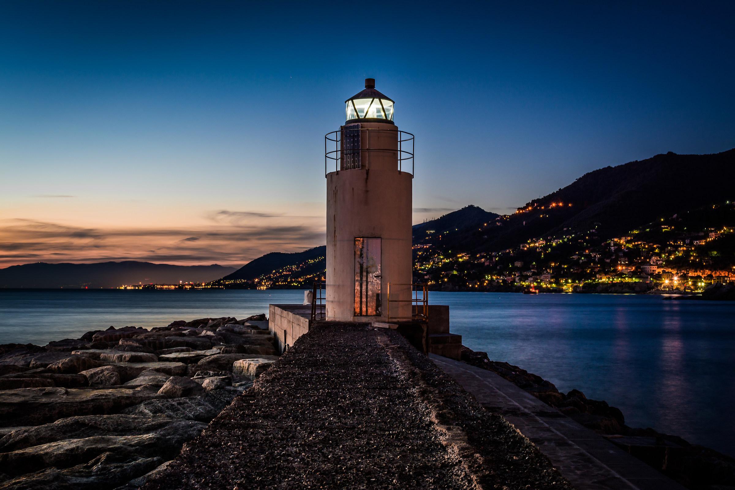 lighthouse at camogli...