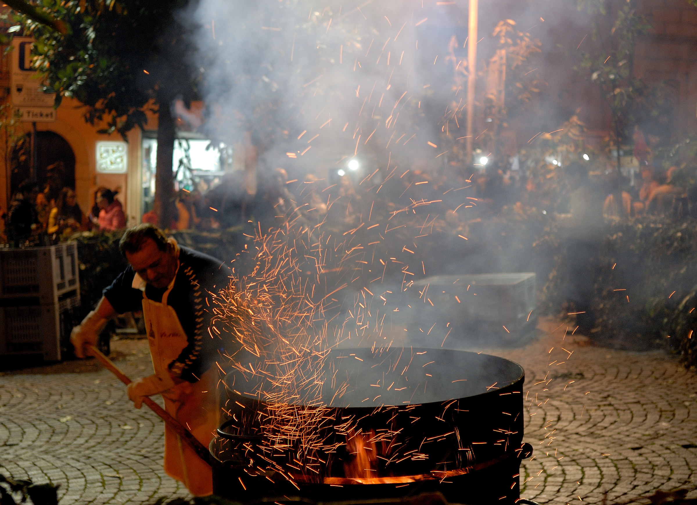 Roasted chestnuts in Melfi...