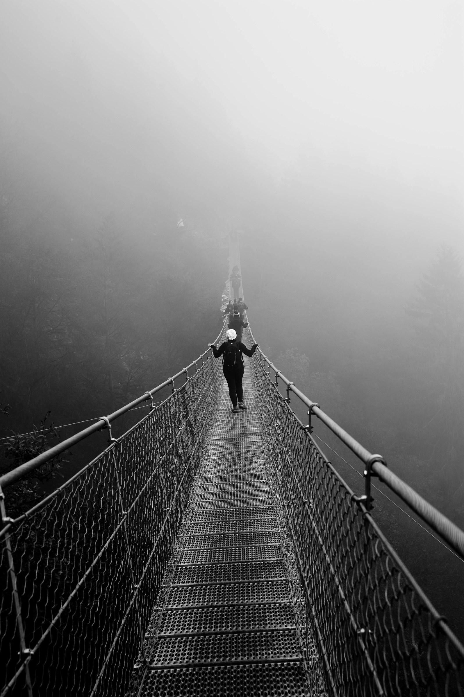 Tibetan Bridge in the fog...