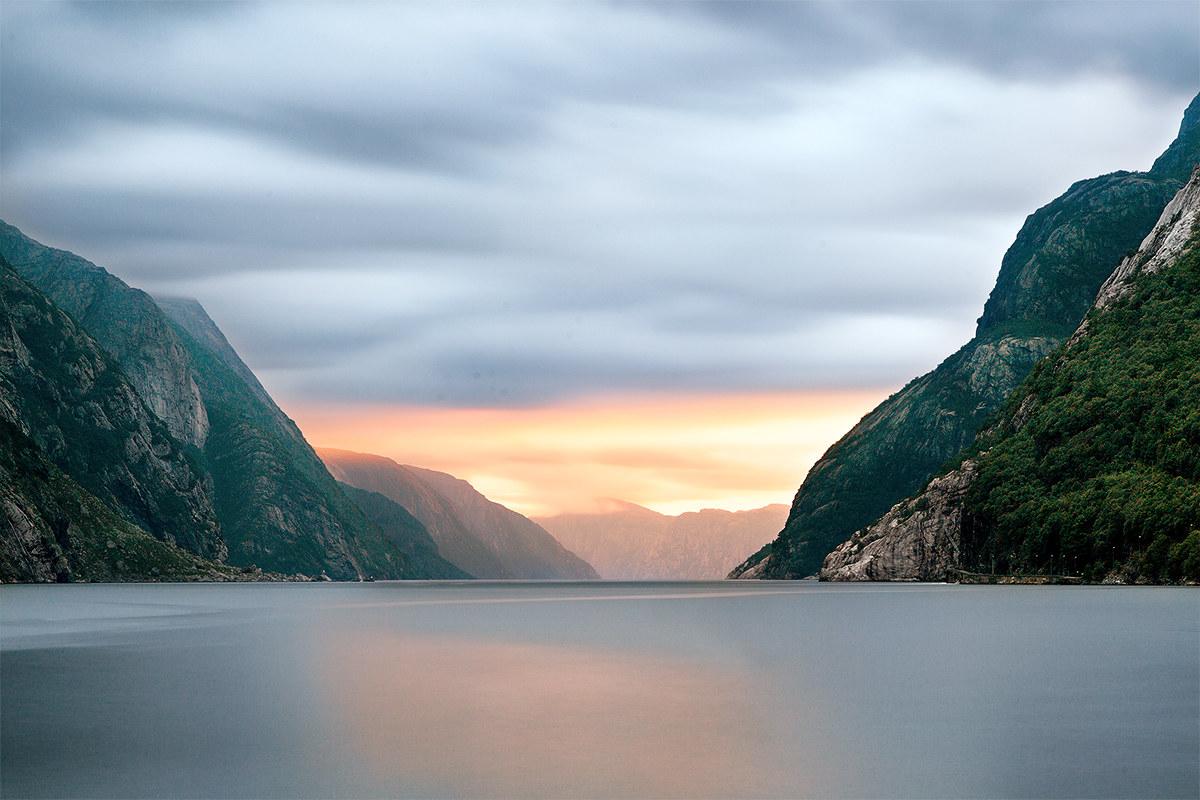 Tramonto sul Lysefjord...