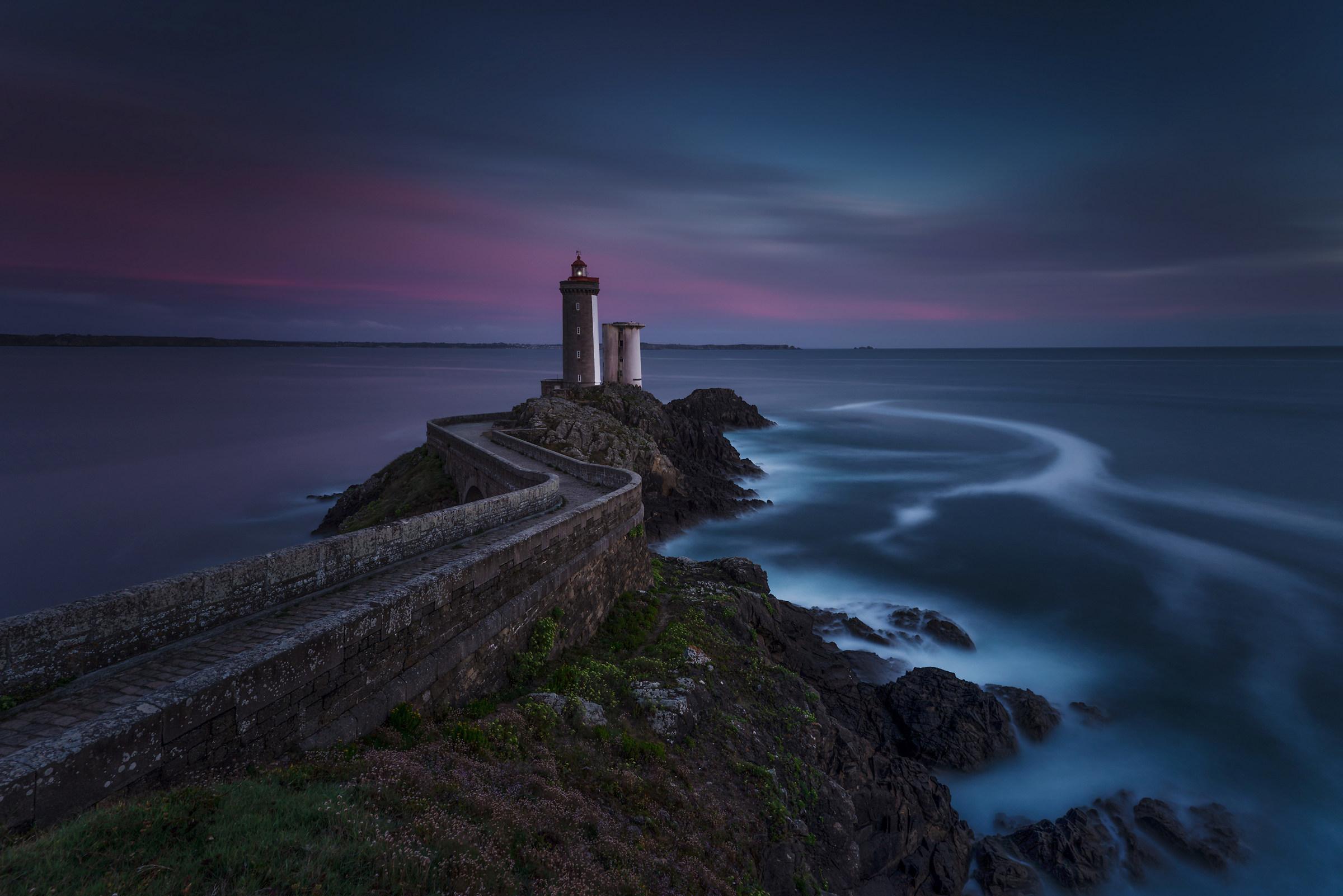Sunset on the Breton coast...