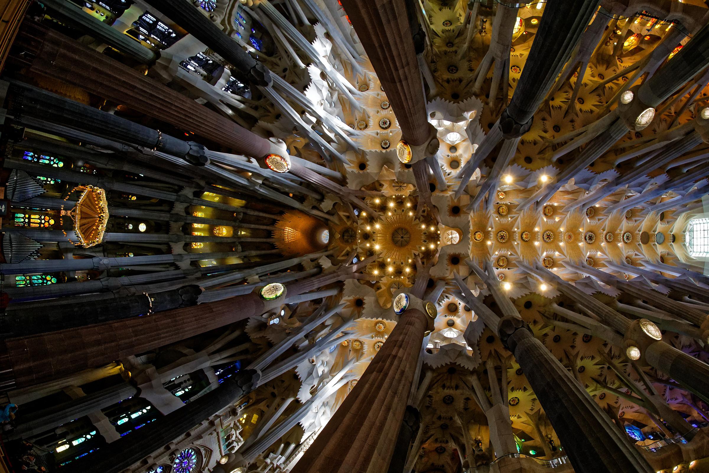 Sagrada ceiling...