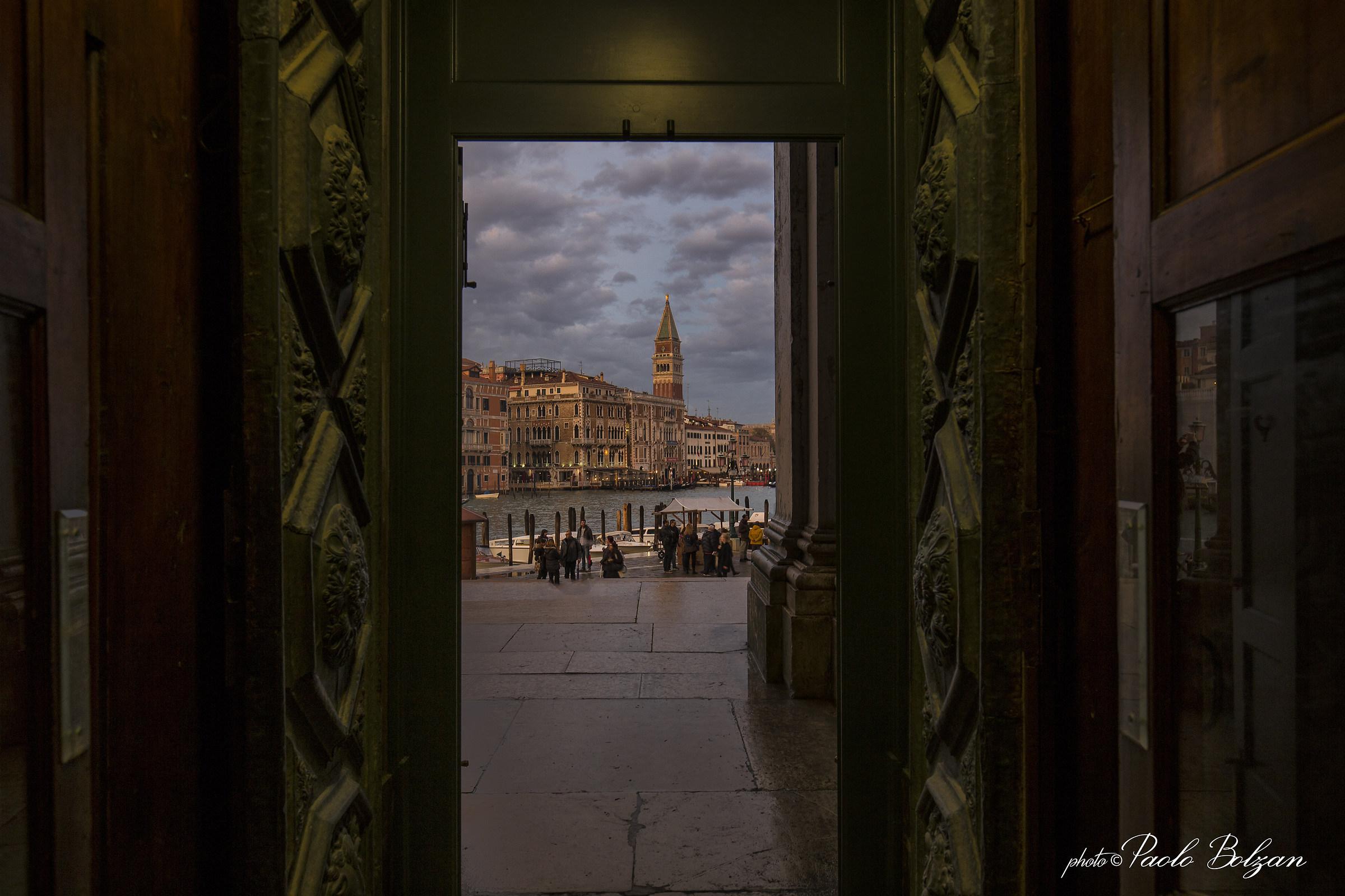 the door of the bell tower...