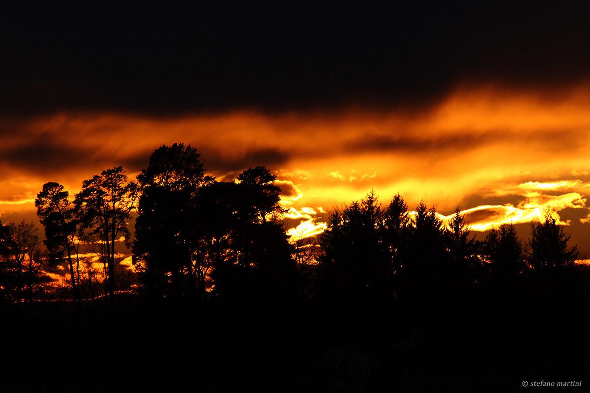 Il colore del tramonto...