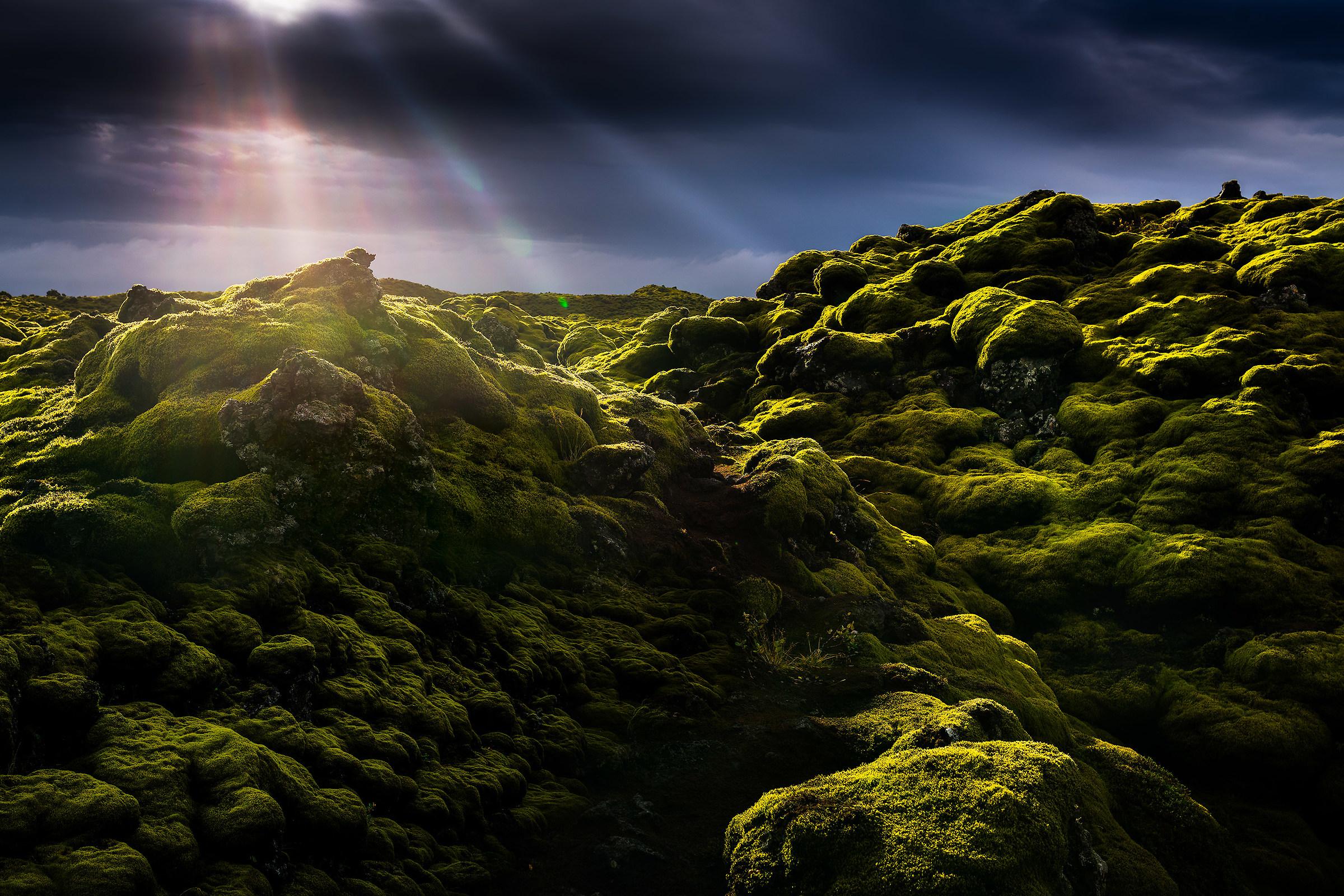 lava fields...