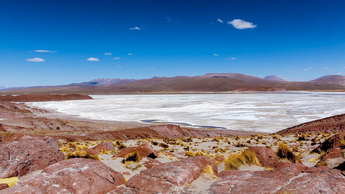 """Postcard"" from Bolivia: laguna blanca...."