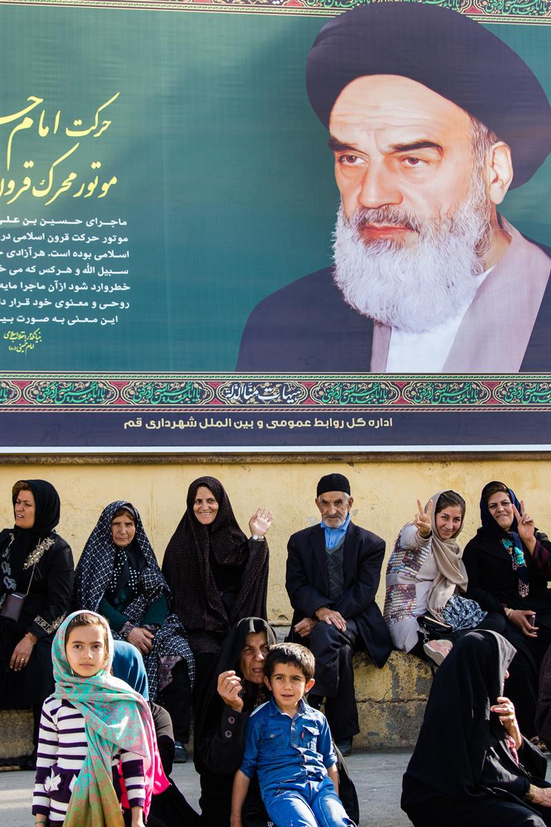 Sotto lo sguardo di Khomeini...