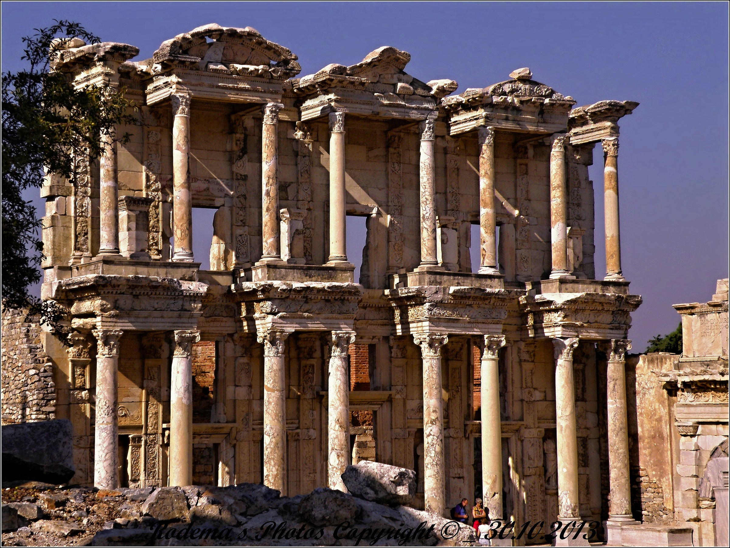 The library of Celsus...