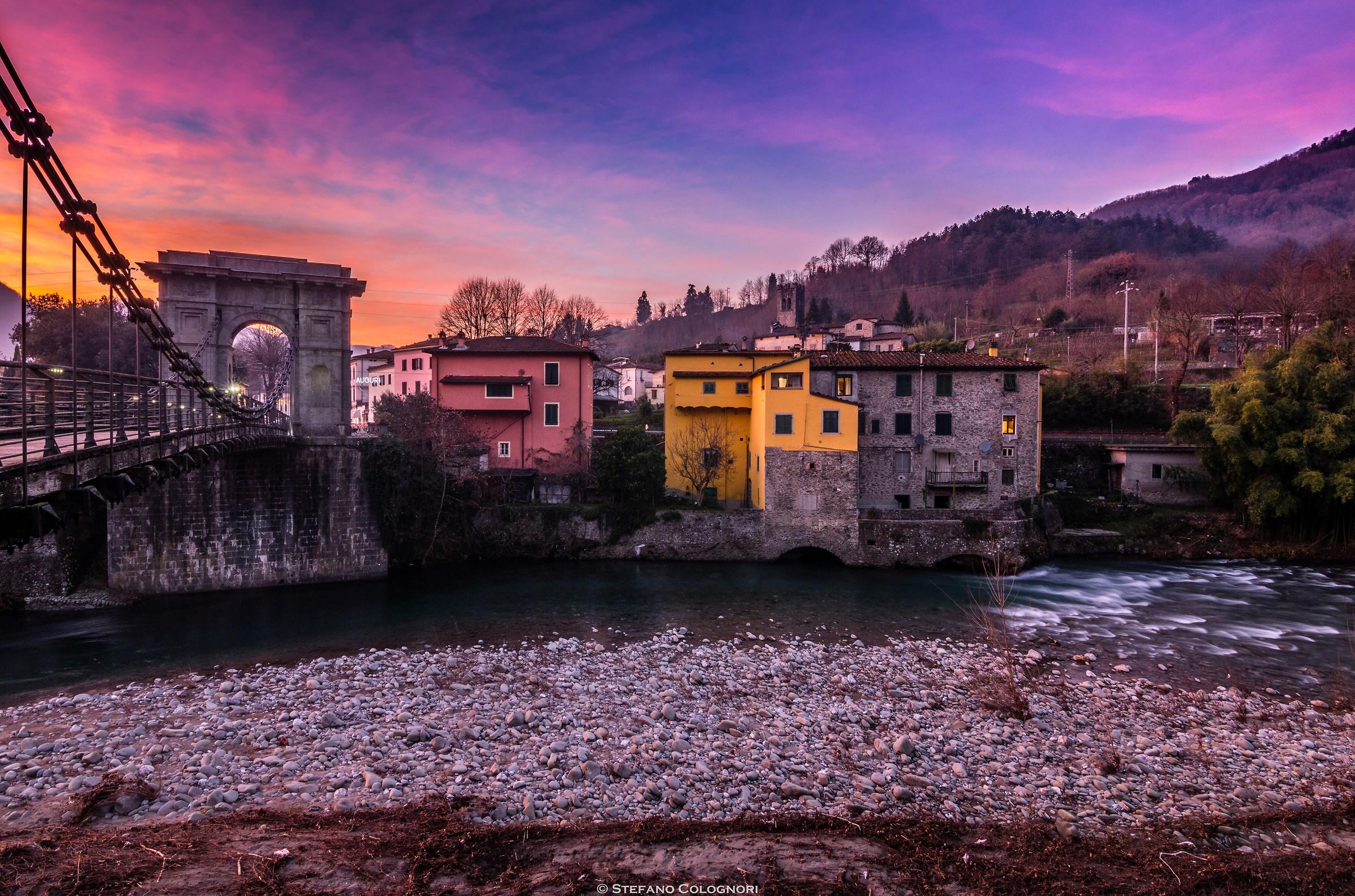 Tramonto al Ponte delle Catene...